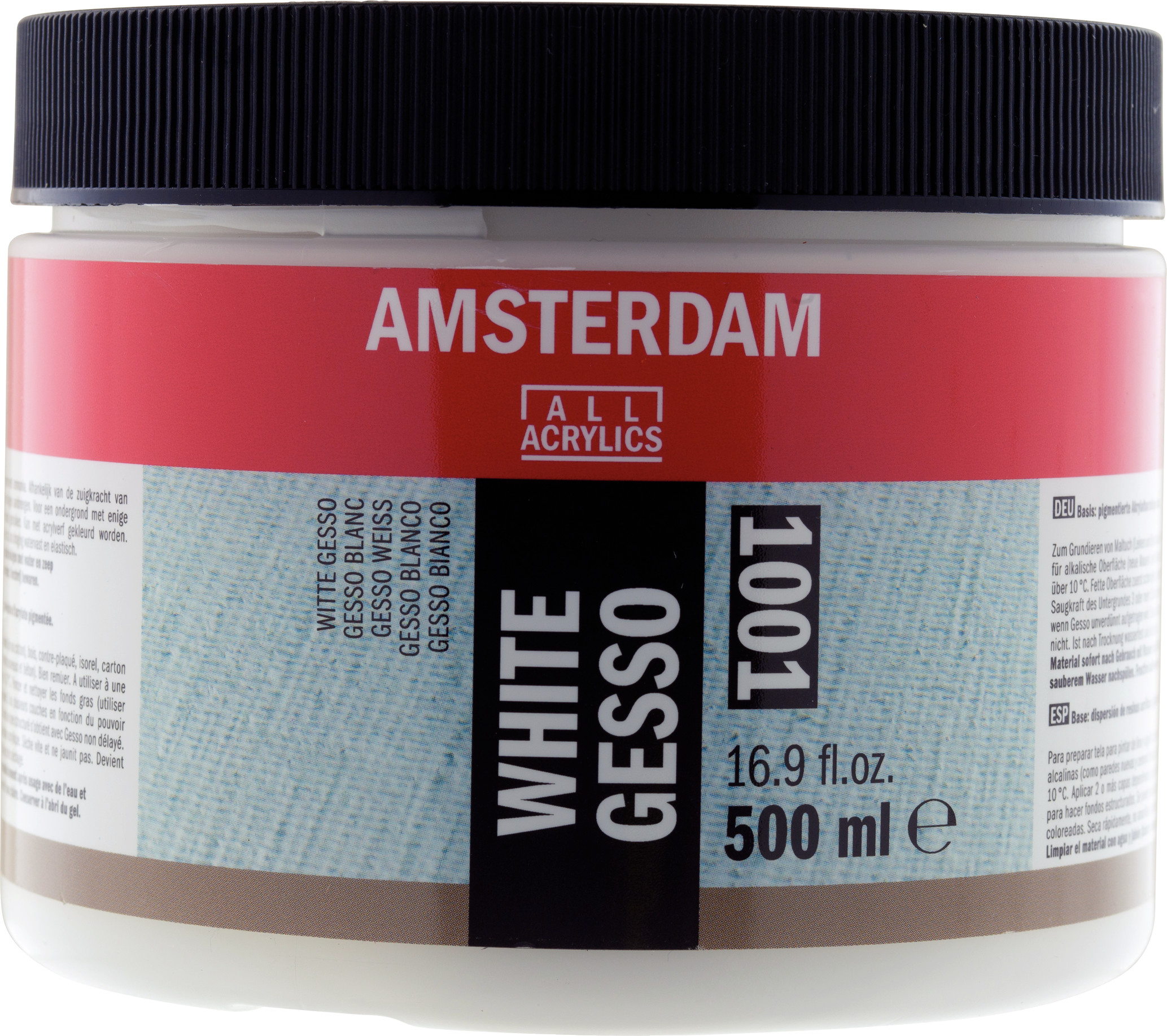 Amsterdam White Gesso Jar 500 ml