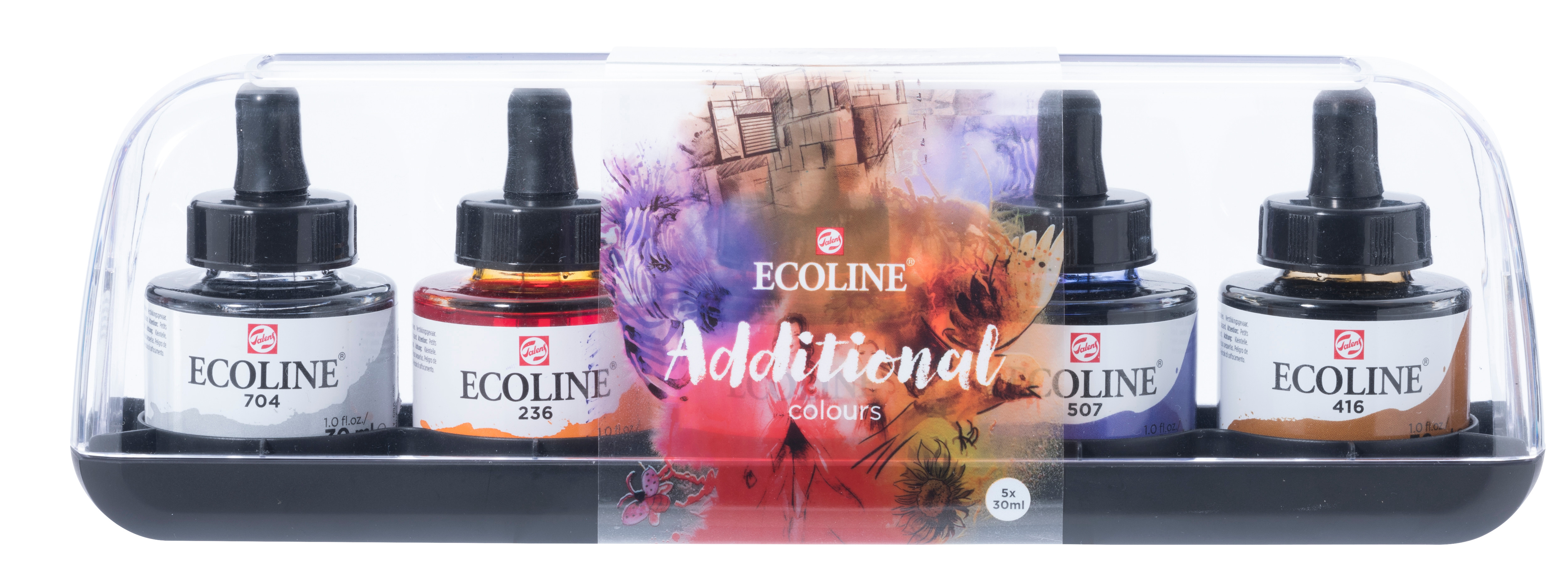 Ecoline Liquid Watercolour Additional Set 5 x 30 ml