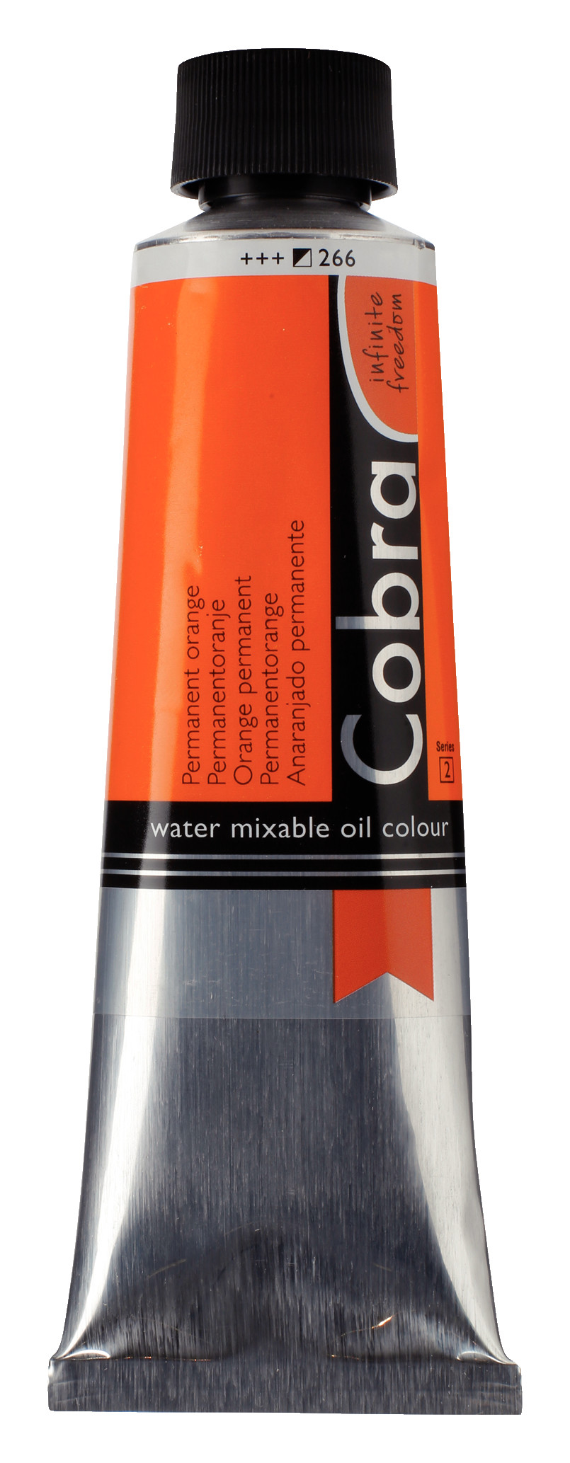 Cobra Artist Water Mixable Oil Colour Tube 150 ml Permanent orange 266