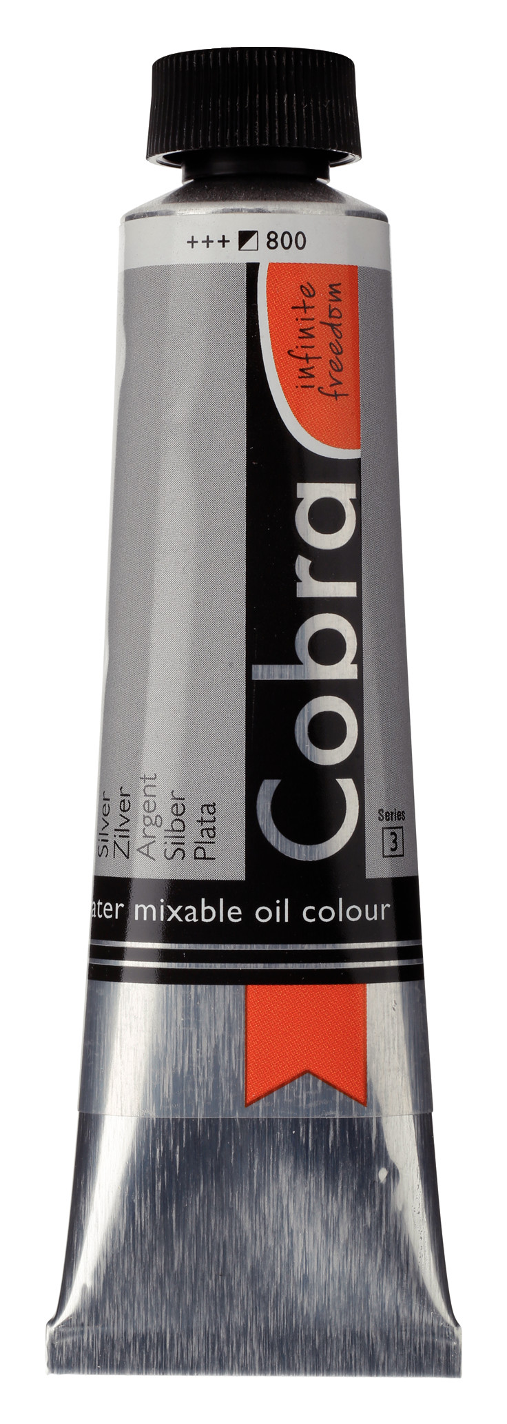 Cobra Artist Water Mixable Oil Colour Tube 40 ml Silver 800