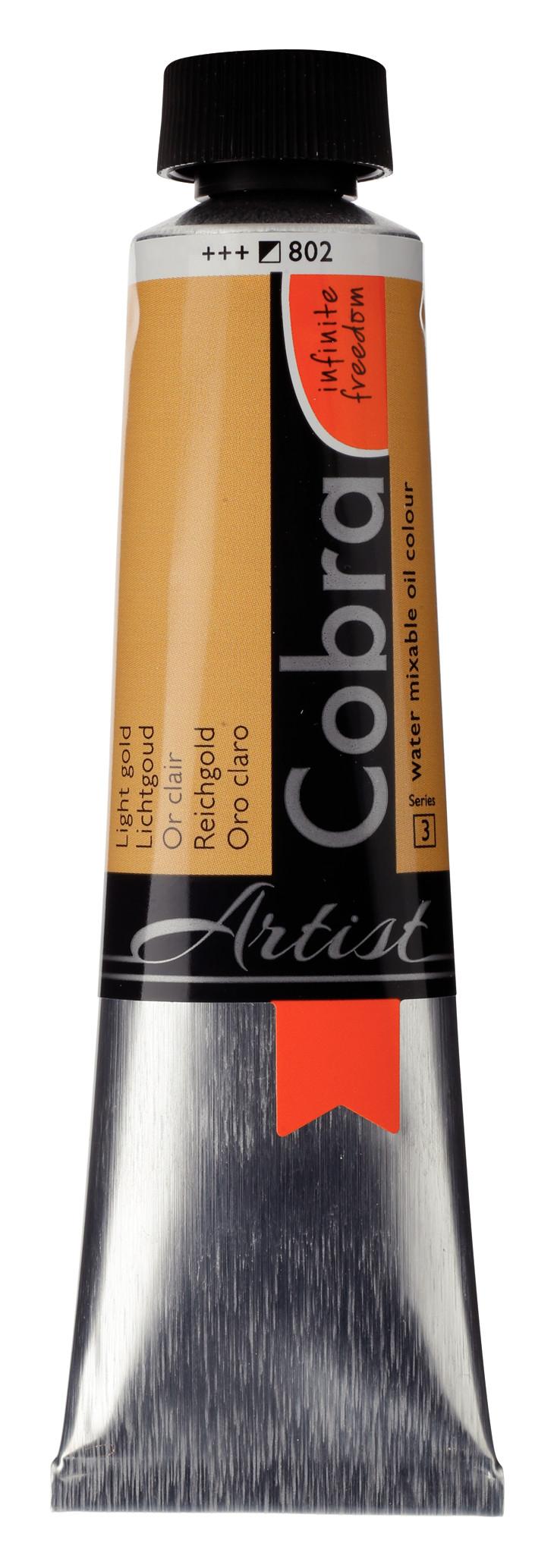 Cobra Artist Water Mixable Oil Colour Tube 40 ml Light Gold 802