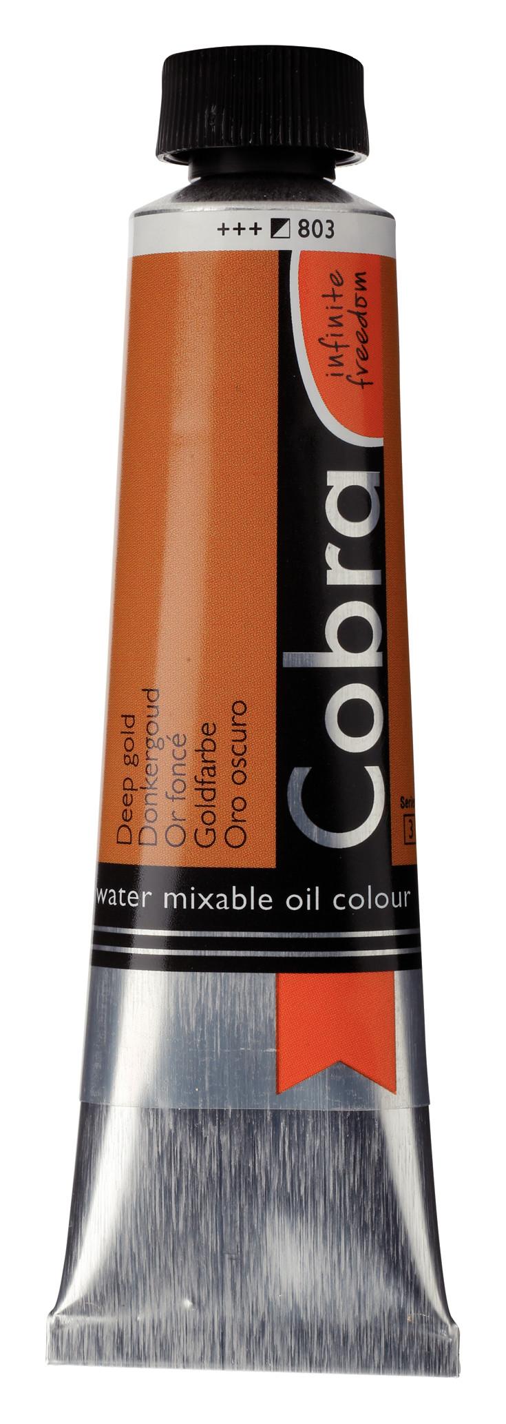 Cobra Artist Water Mixable Oil Colour Tube 40 ml Deep Gold 803