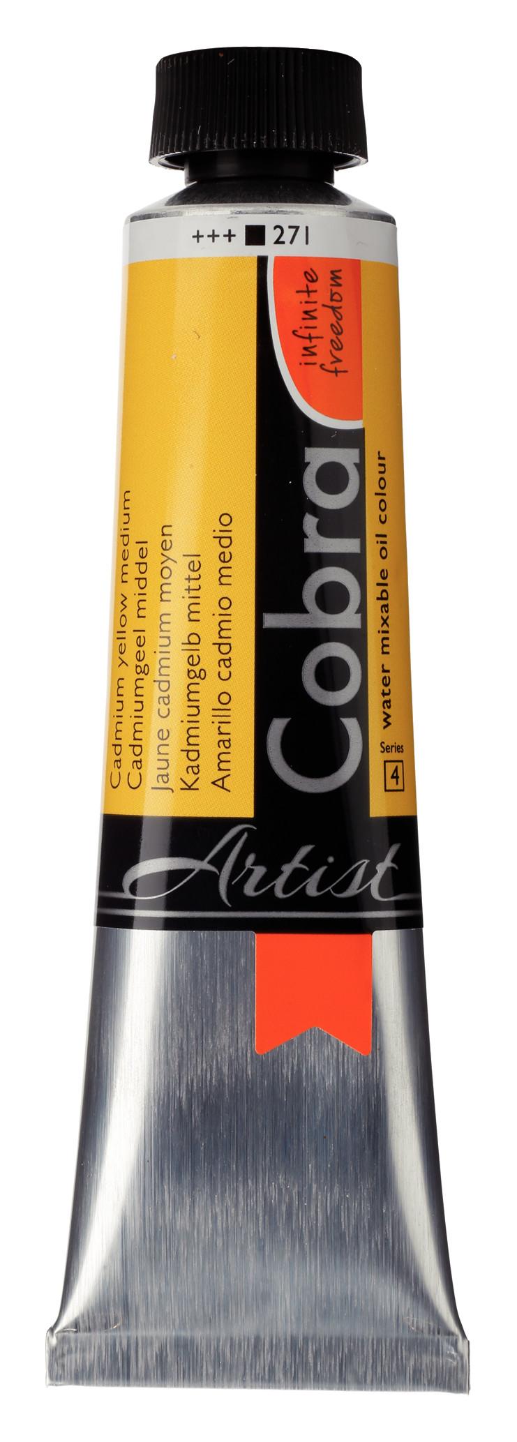 Cobra Artist Water Mixable Oil Colour Tube 40 ml Cadmium yellow medium 271