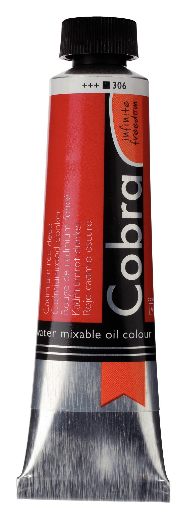 Cobra Artist Water Mixable Oil Colour Tube 40 ml Cadmium red deep  306