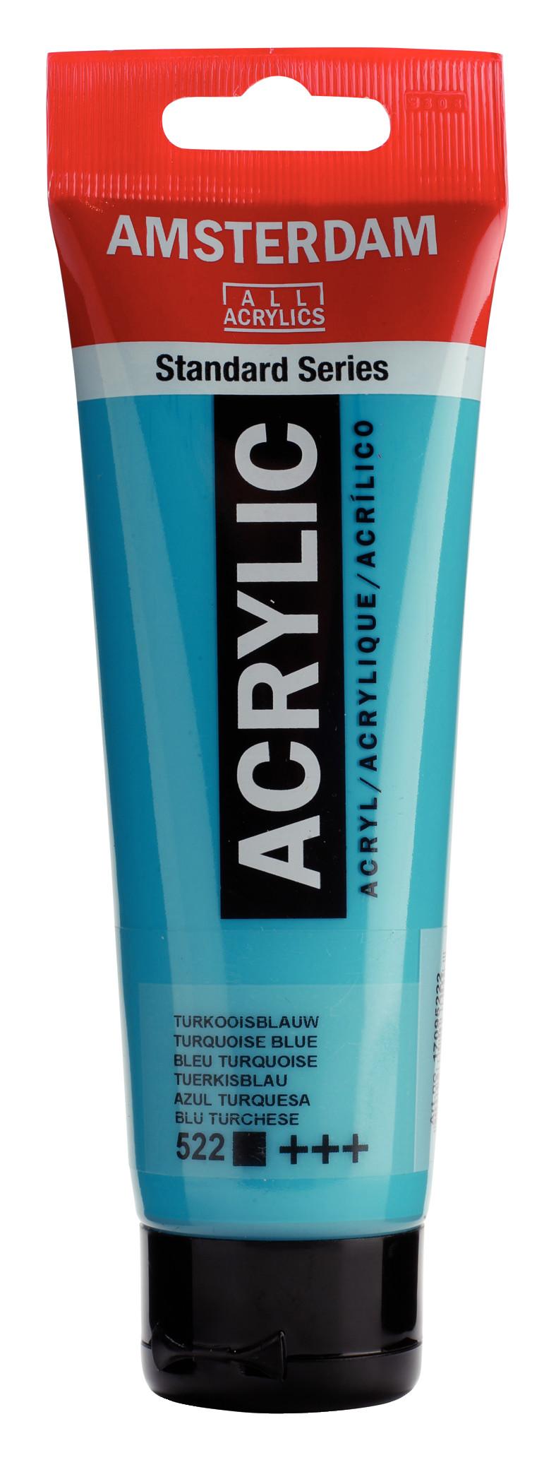 Amsterdam Standard Series Acrylic Tube 120 ml Turquoise blue 522