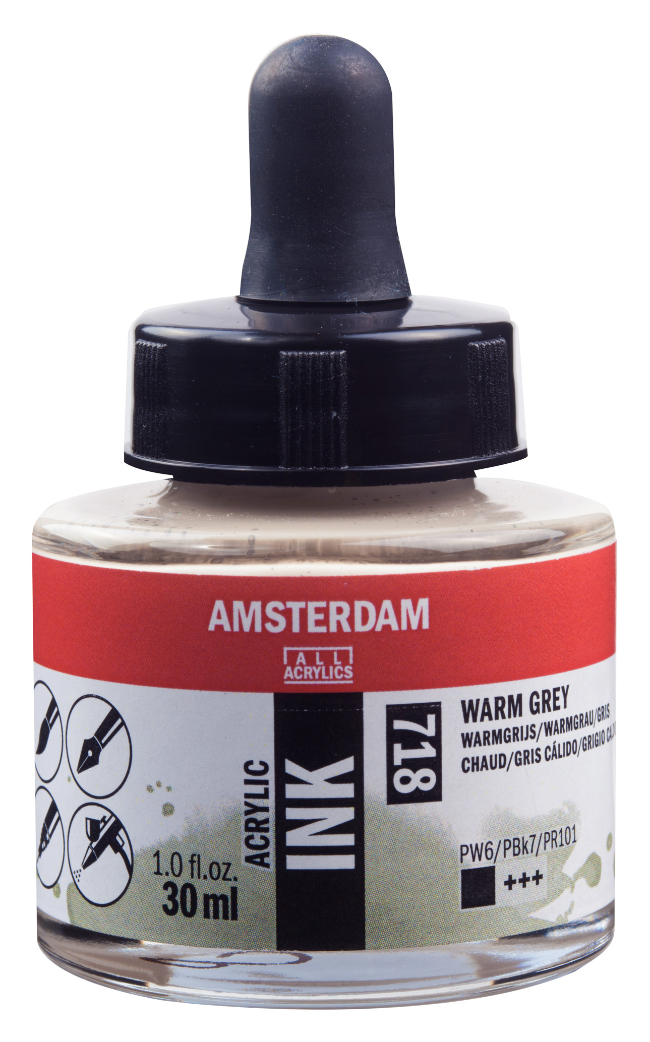 Amsterdam Acrylic Ink Bottle 30 ml Warm Grey 718