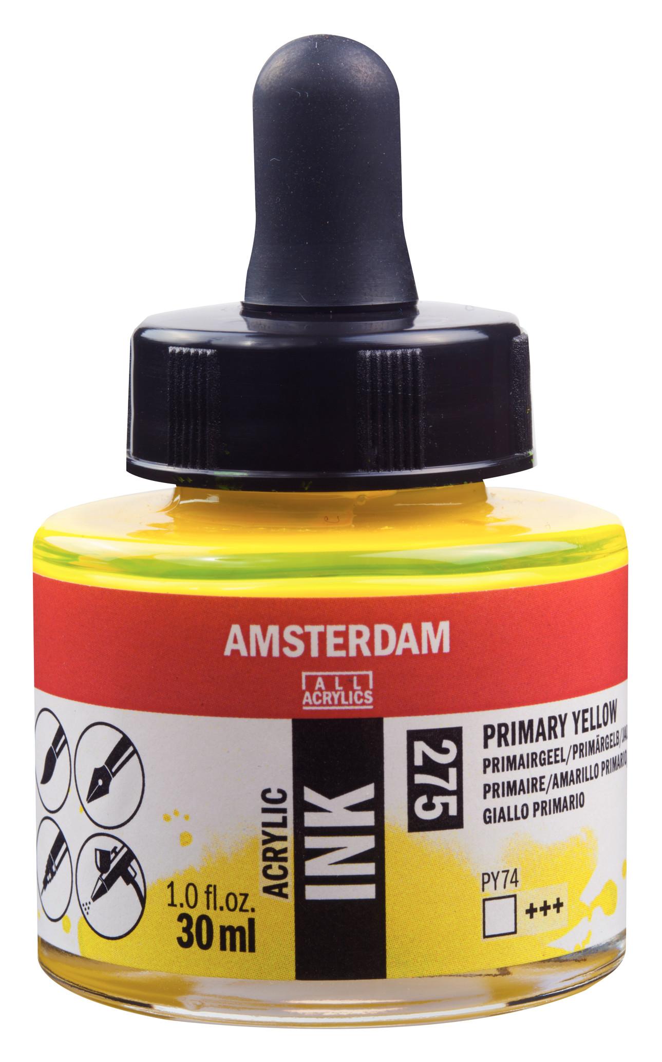 Amsterdam Acrylic Ink Bottle 30 ml Primary Yellow 275