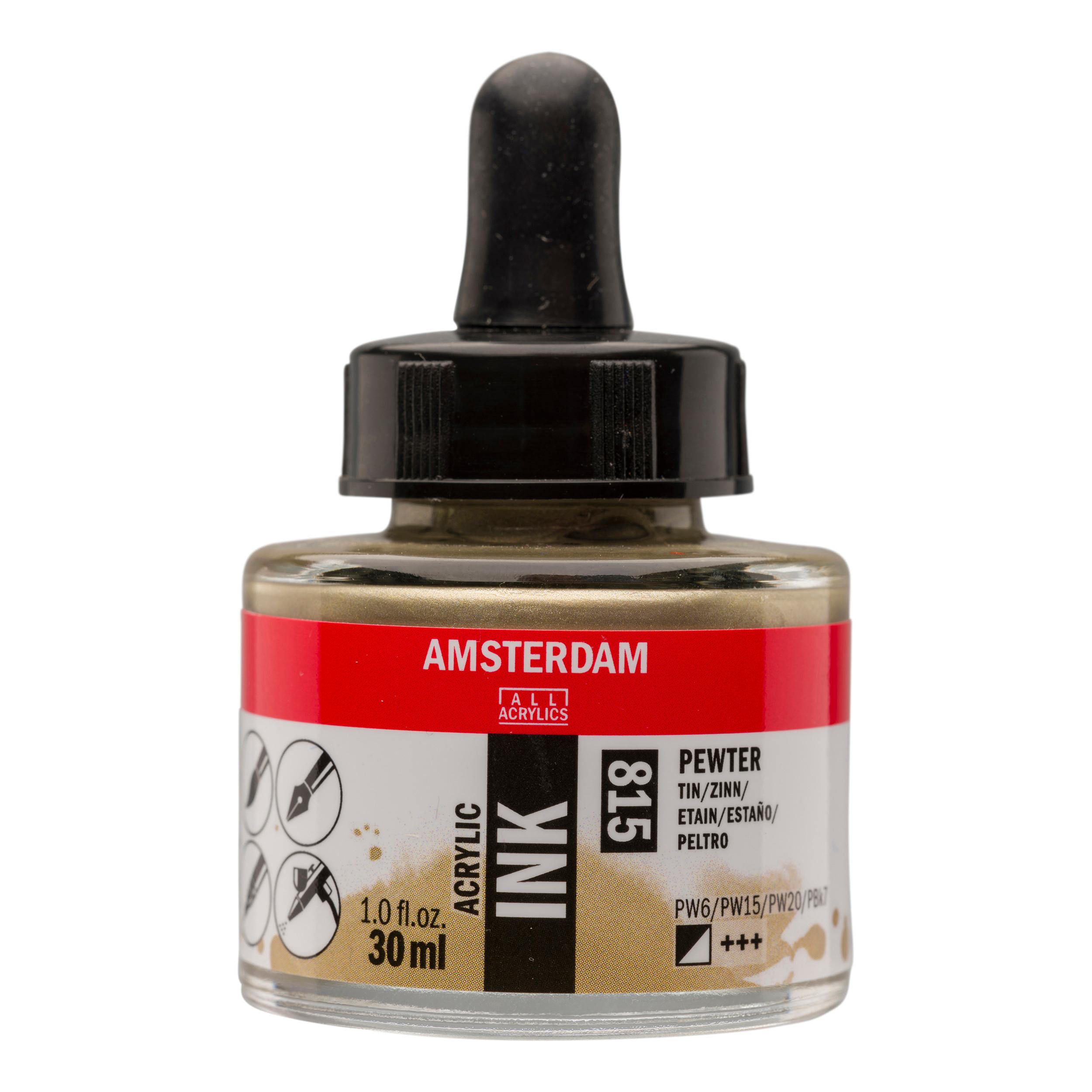 Amsterdam Acrylic Ink Bottle 30 ml Pewter 815