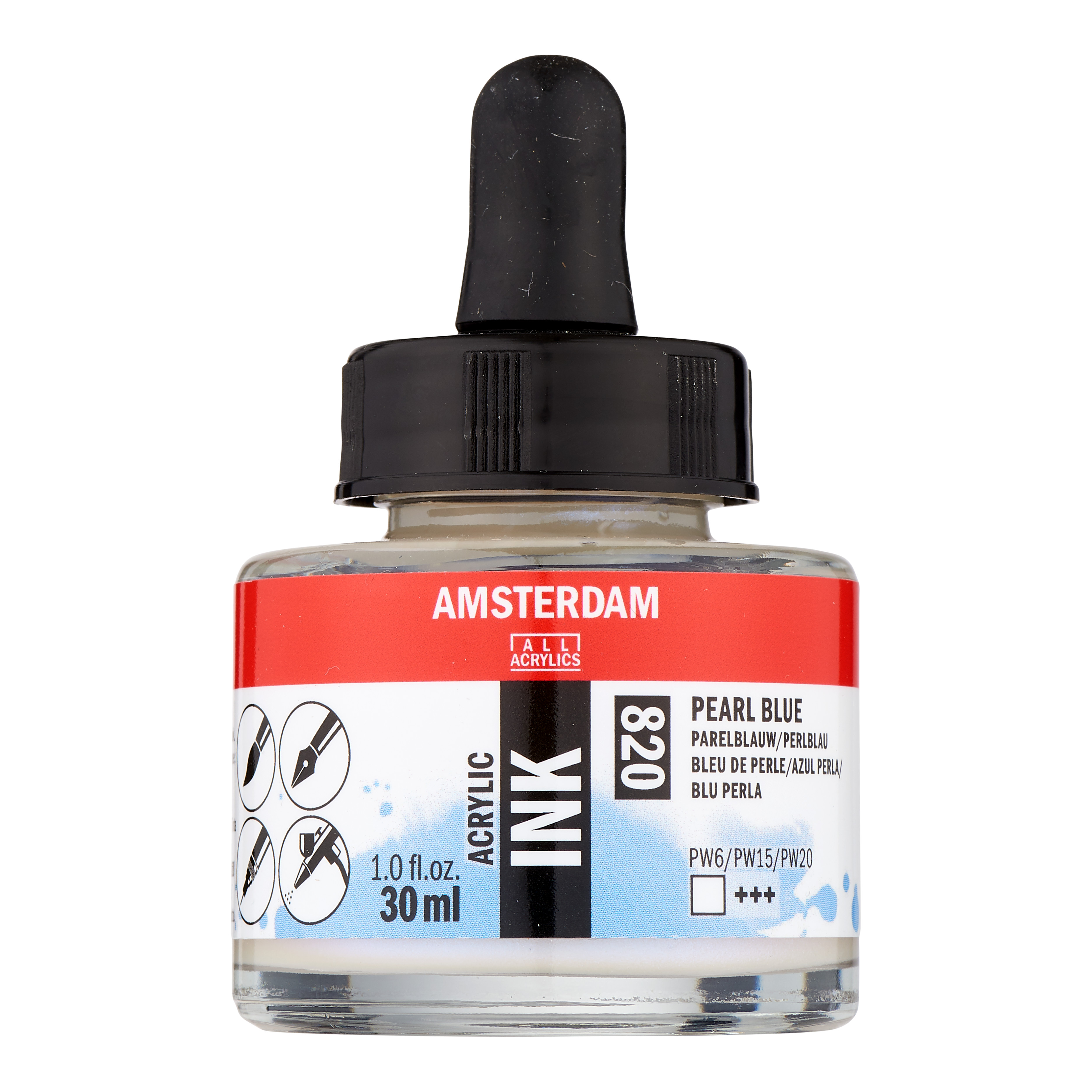 Amsterdam Acrylic Ink Bottle 30 ml Pearl Blue 820
