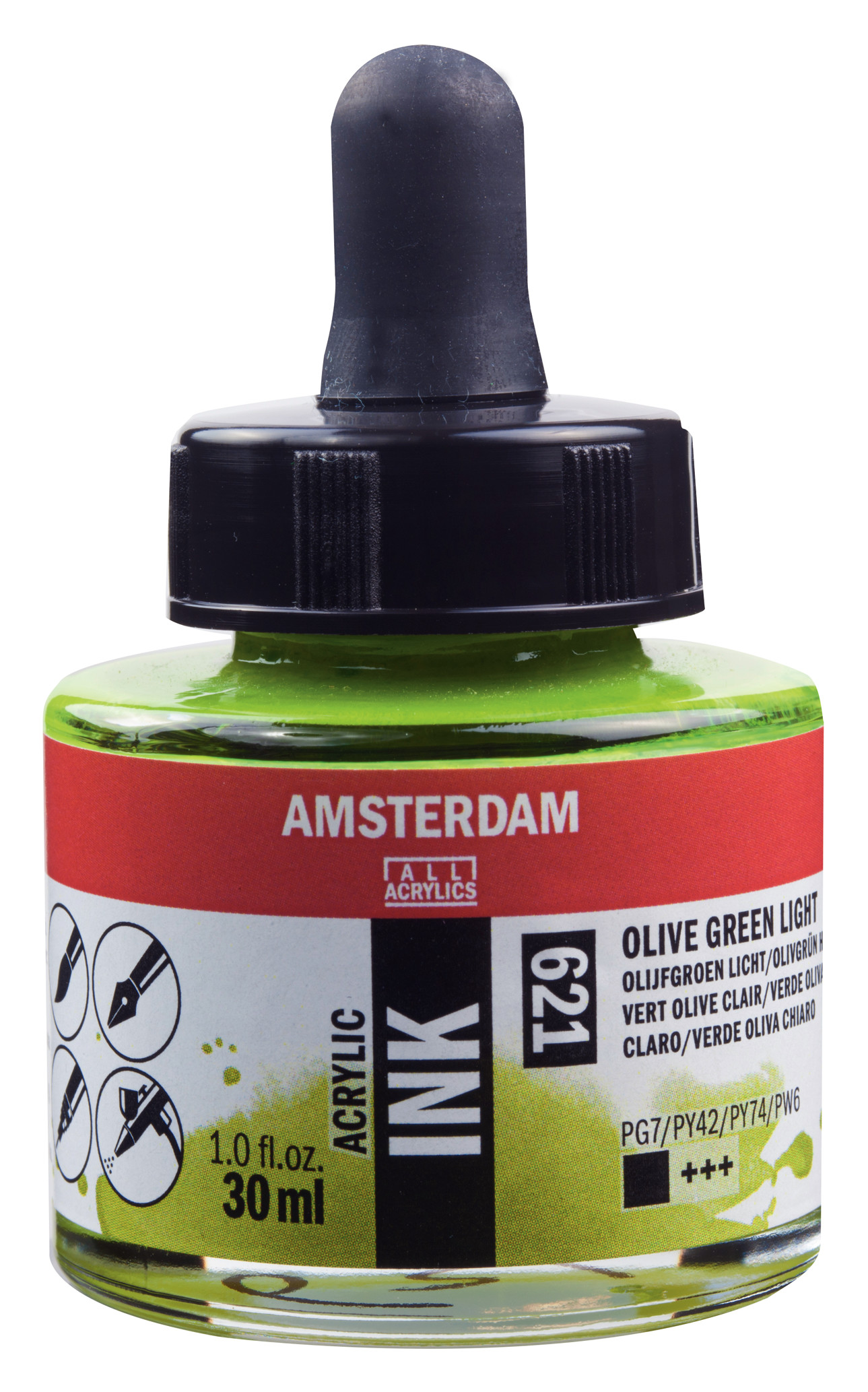 Amsterdam Acrylic Ink Bottle 30 ml Olive Green Light 621