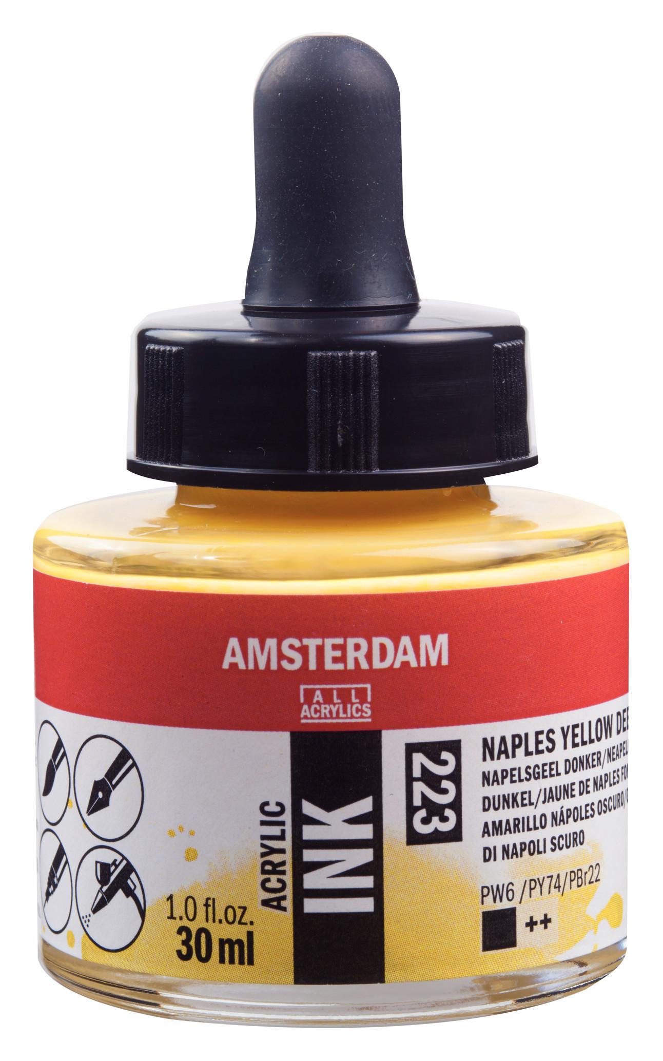 Amsterdam Acrylic Ink Bottle 30 ml Naples Yellow Deep 223