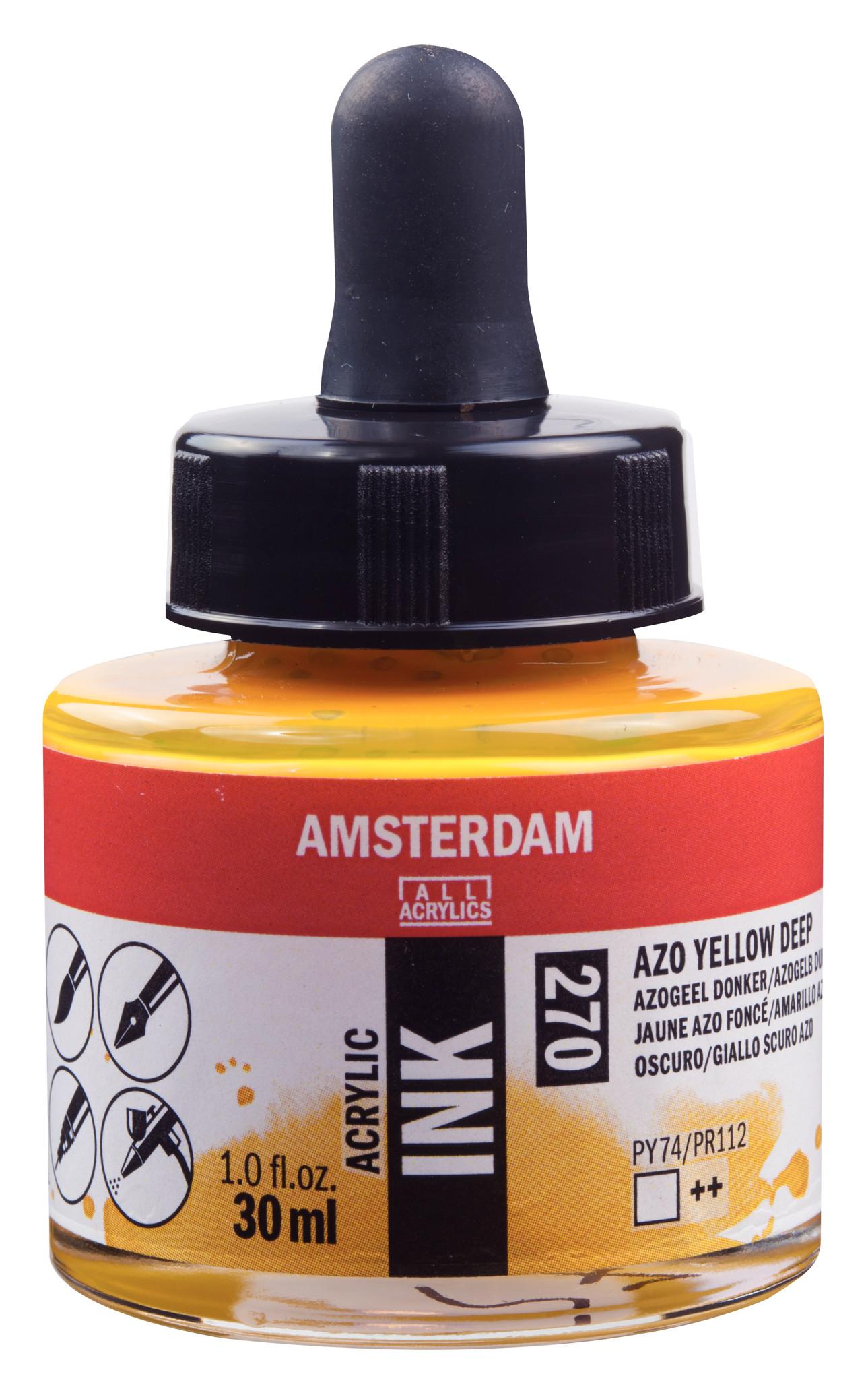 Amsterdam Acrylic Ink Bottle 30 ml Azo Yellow Deep 270