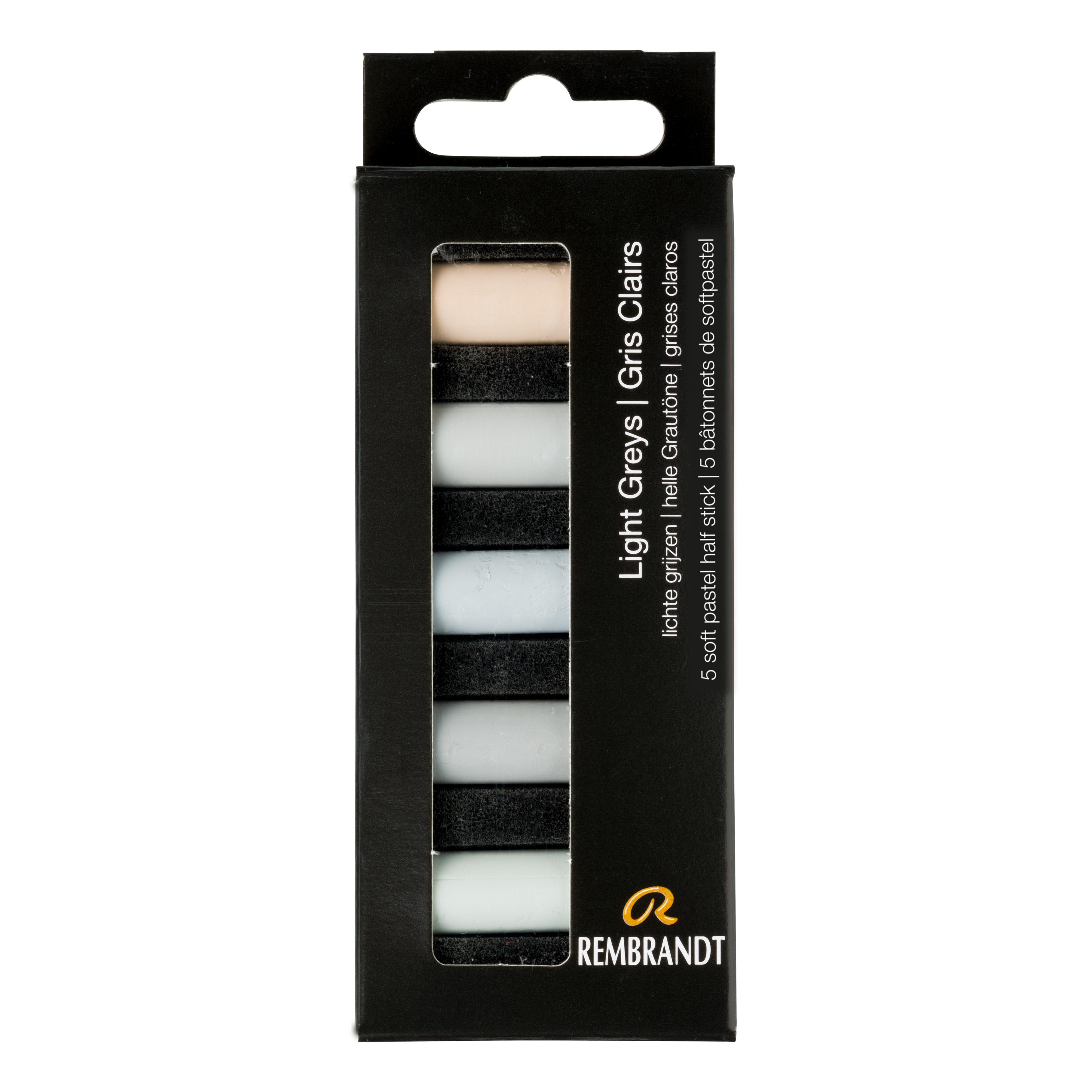 Rembrandt Soft Pastels Light Greys Set