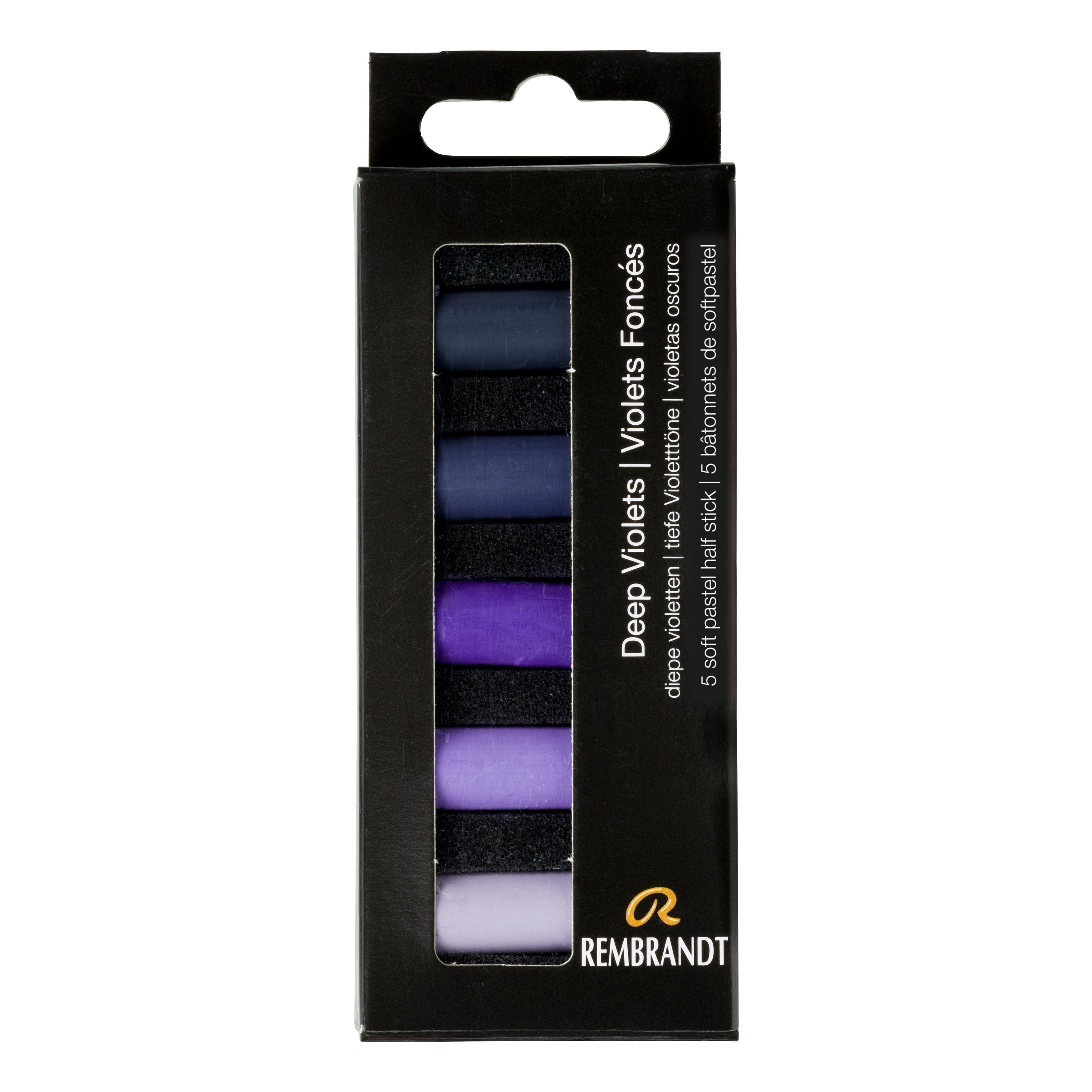 Rembrandt Soft Pastels Deep Violets Set