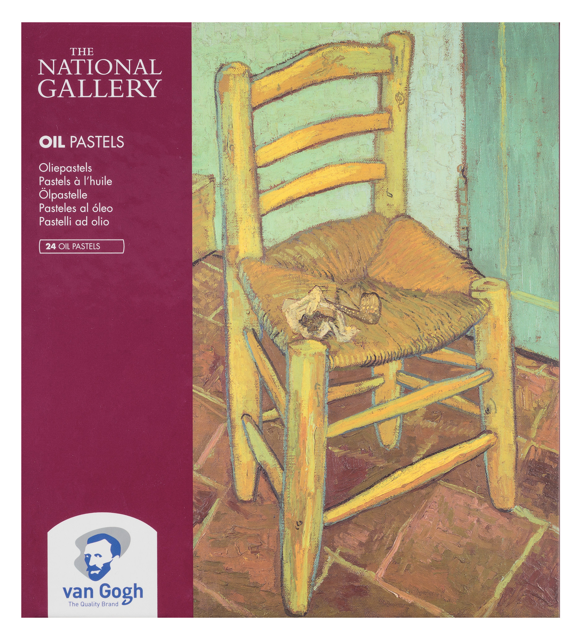 Van Gogh The National Gallery Oil Pastel Set with 24 Colours