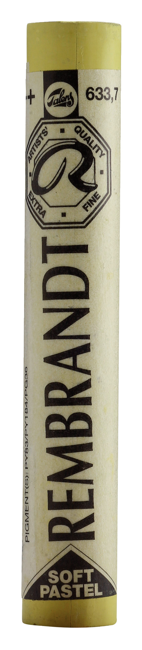 Rembrandt Soft Pastel Round Full Stick Permanent Yellow Green(7) (633.7)