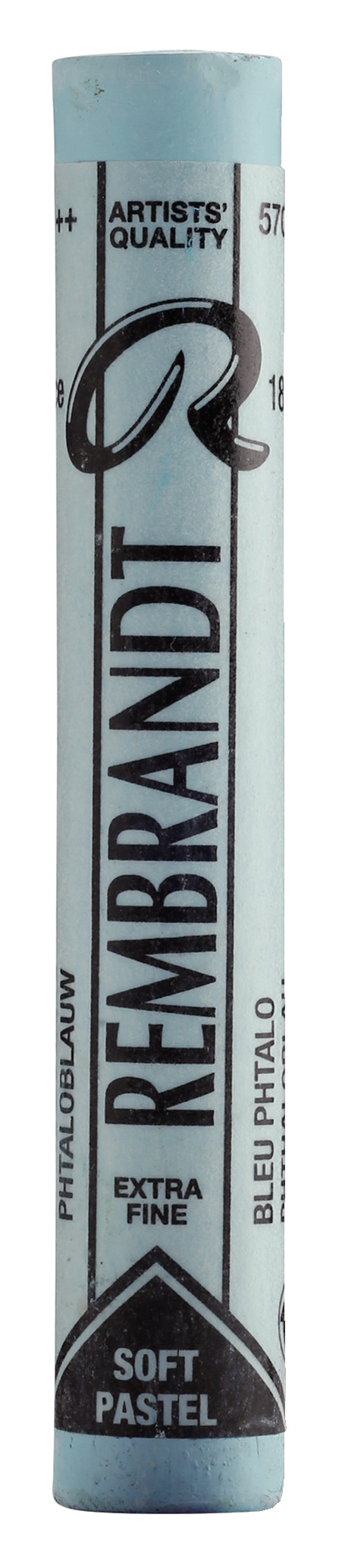 Rembrandt Soft Pastel Round Full Stick Phthalo Blue(9) (570.9)