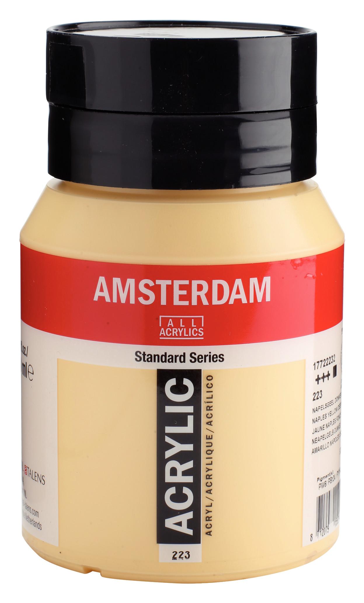 Amsterdam Standard Series Acrylic Jar 500 ml Naples yellow deep 223