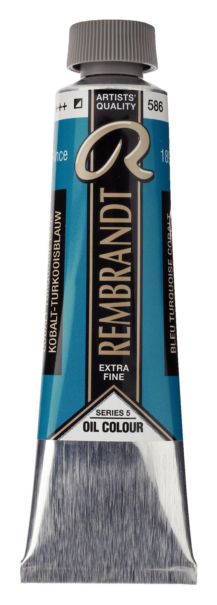 Rembrandt Oil colour Paint Cobalt Turquoise Blue (586) 40ml Tube