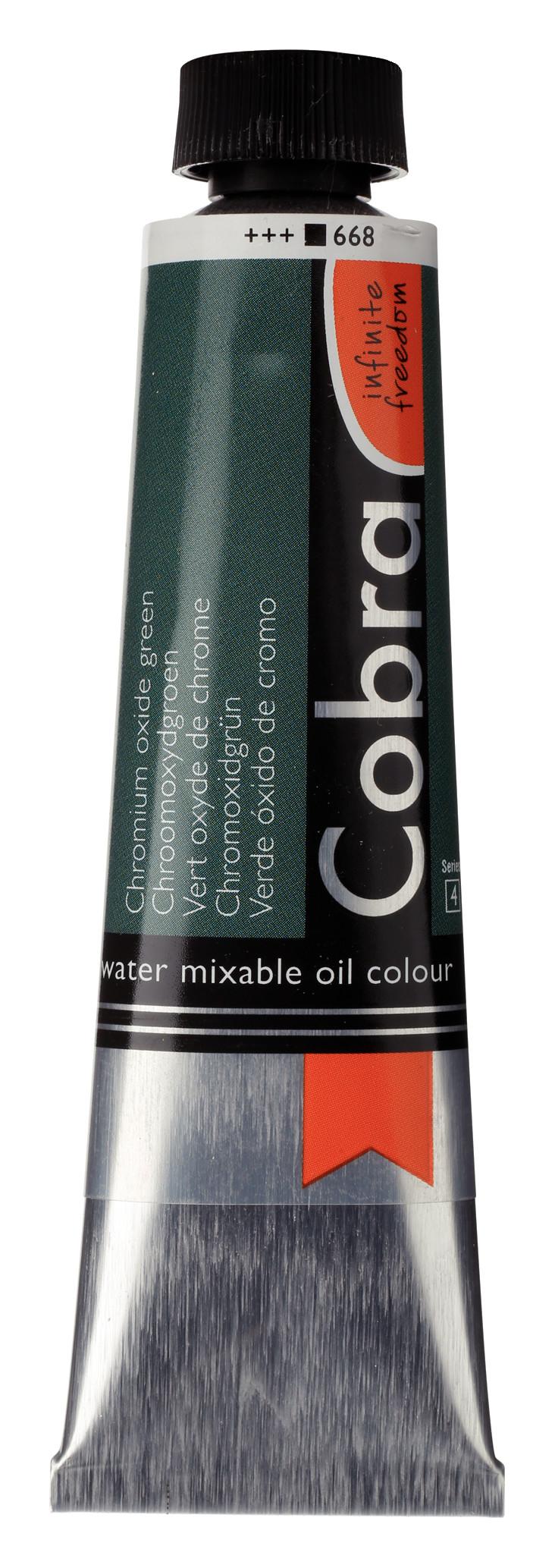 Cobra Artist Water Mixable Oil Colour Tube 40 ml Chromium oxide green  668