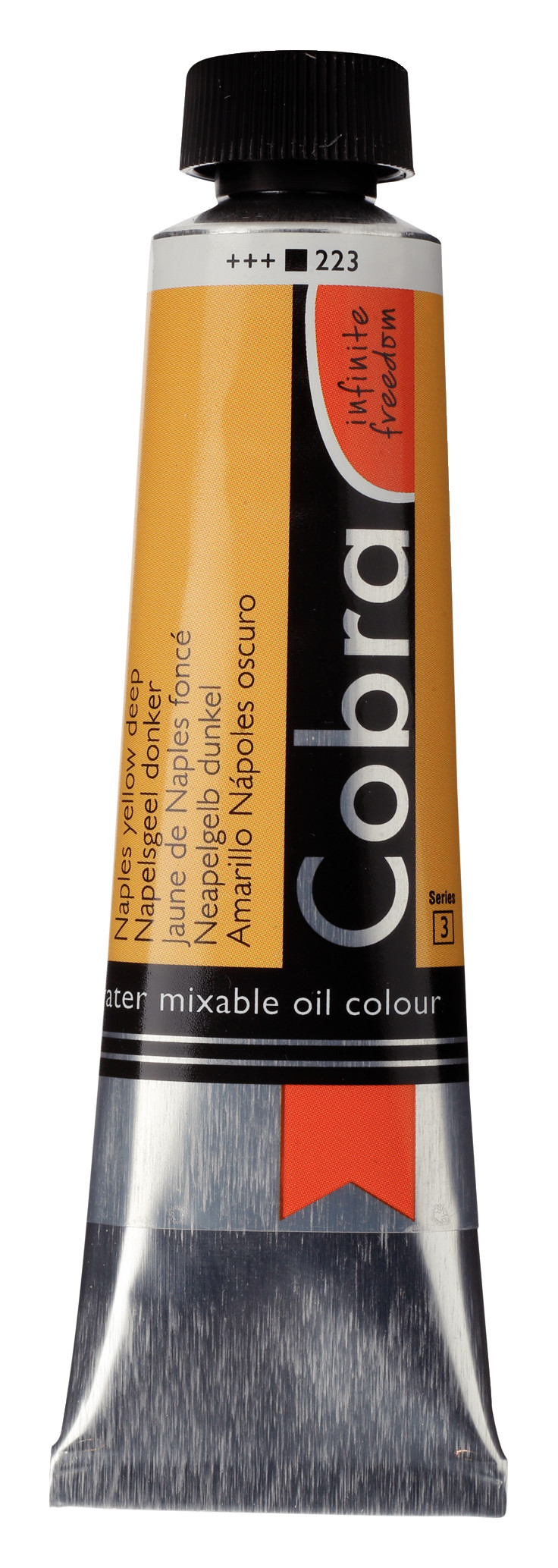 Cobra Artist Water Mixable Oil Colour Tube 40 ml Naples yellow deep 223