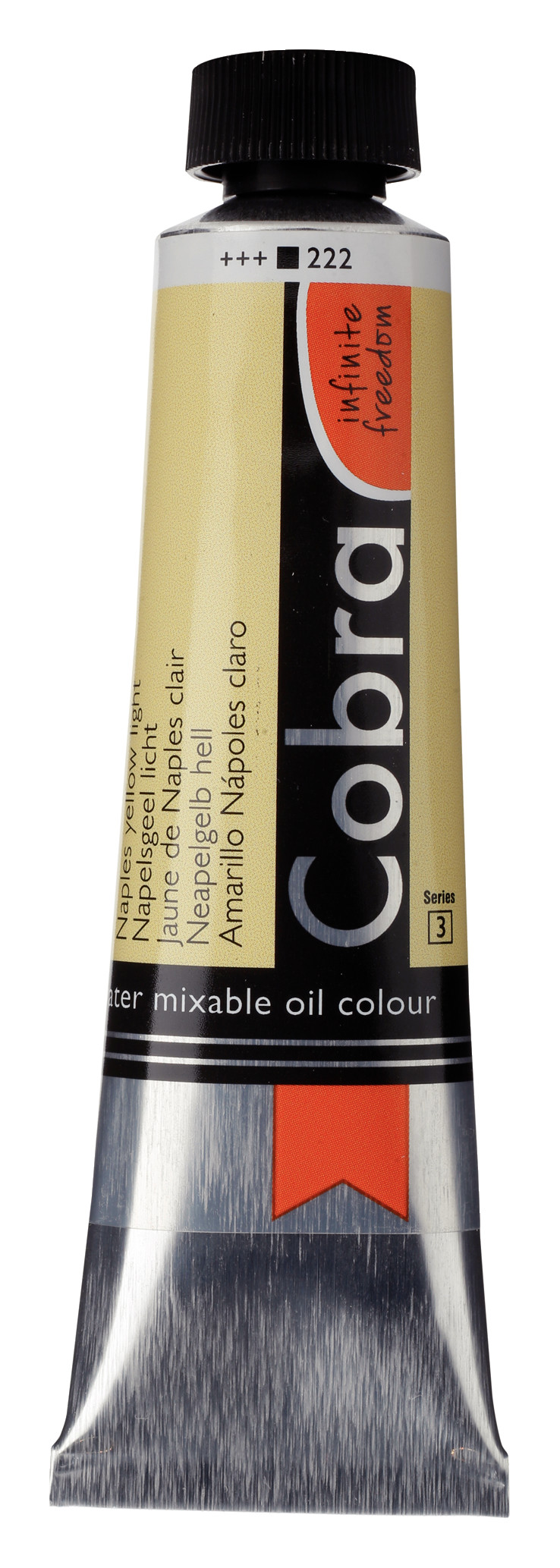 Cobra Artist Water Mixable Oil Colour Tube 40 ml Naples yellow light 222