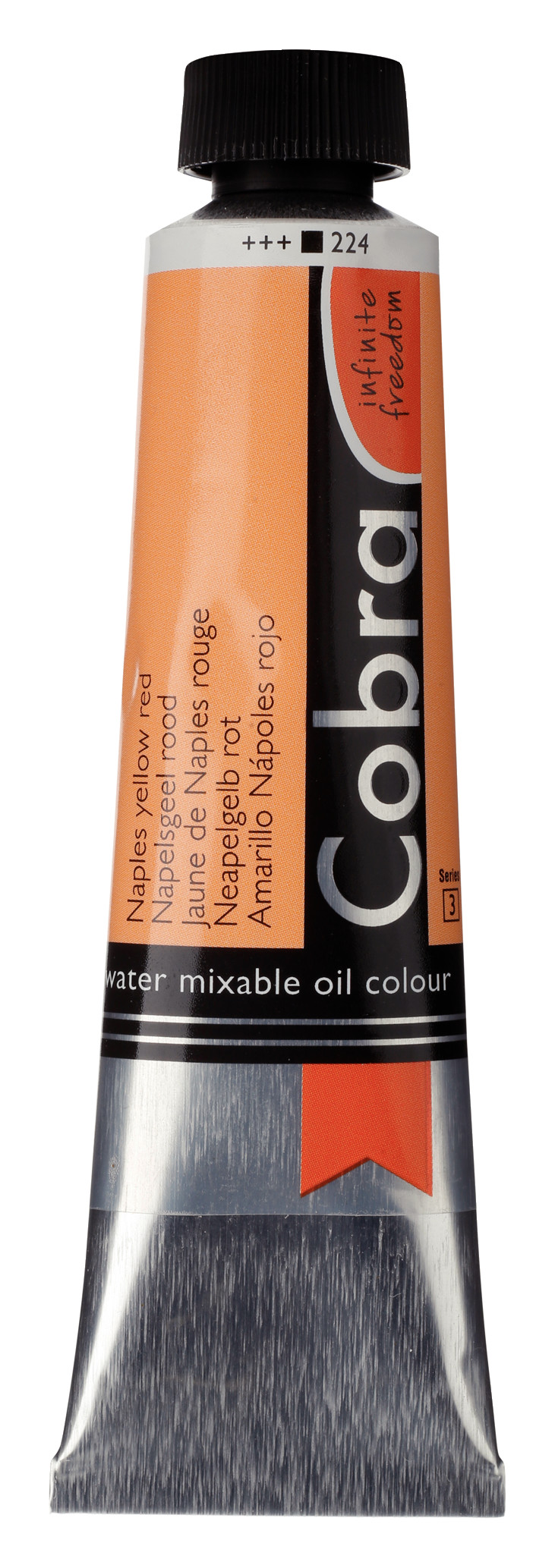 Cobra Artist Water Mixable Oil Colour Tube 40 ml Naples yellow red 224