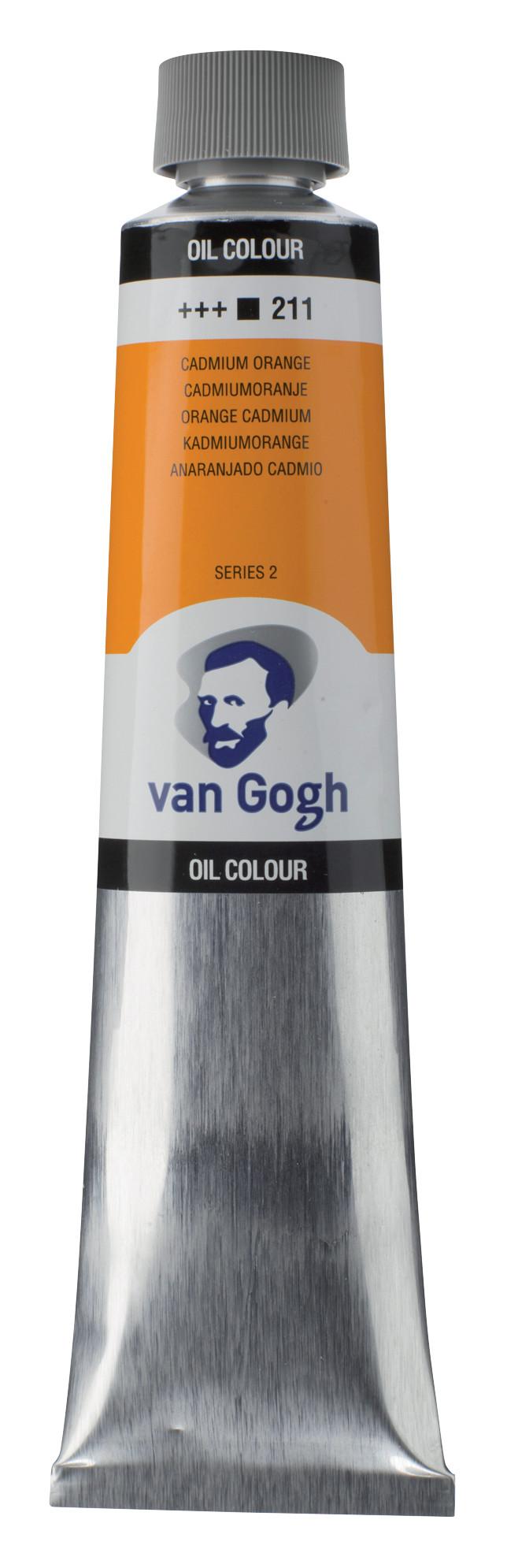 Van Gogh Oil Colour Tube 200 ml Cadmium Orange 211