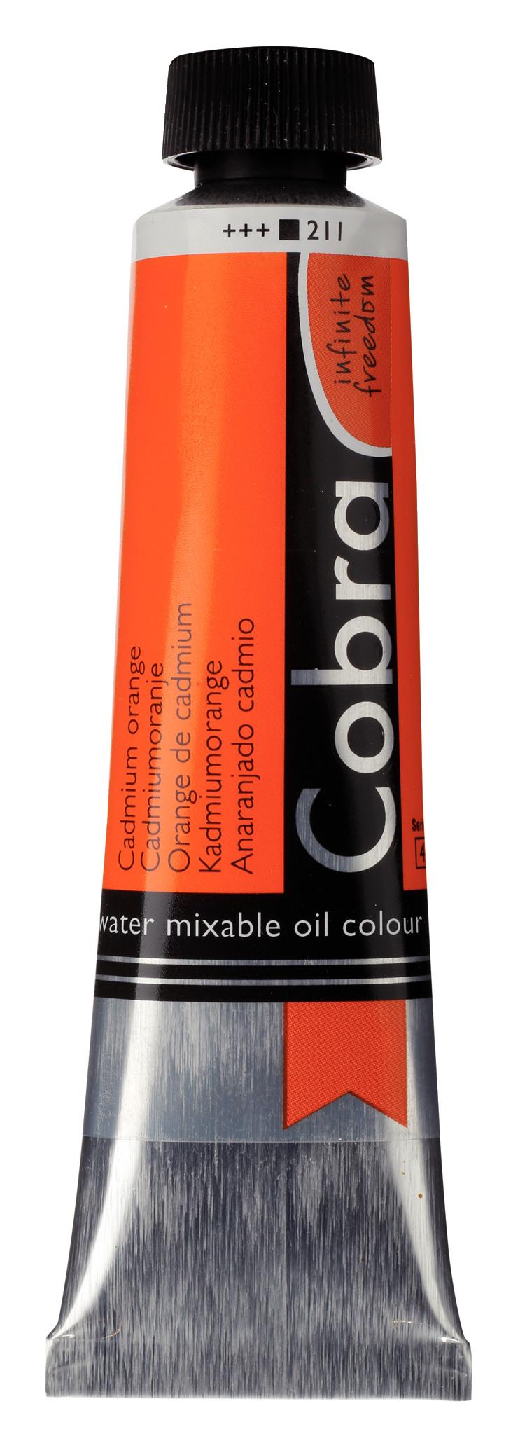 Cobra Artist Water Mixable Oil Colour Tube 40 ml Cadmium orange 211
