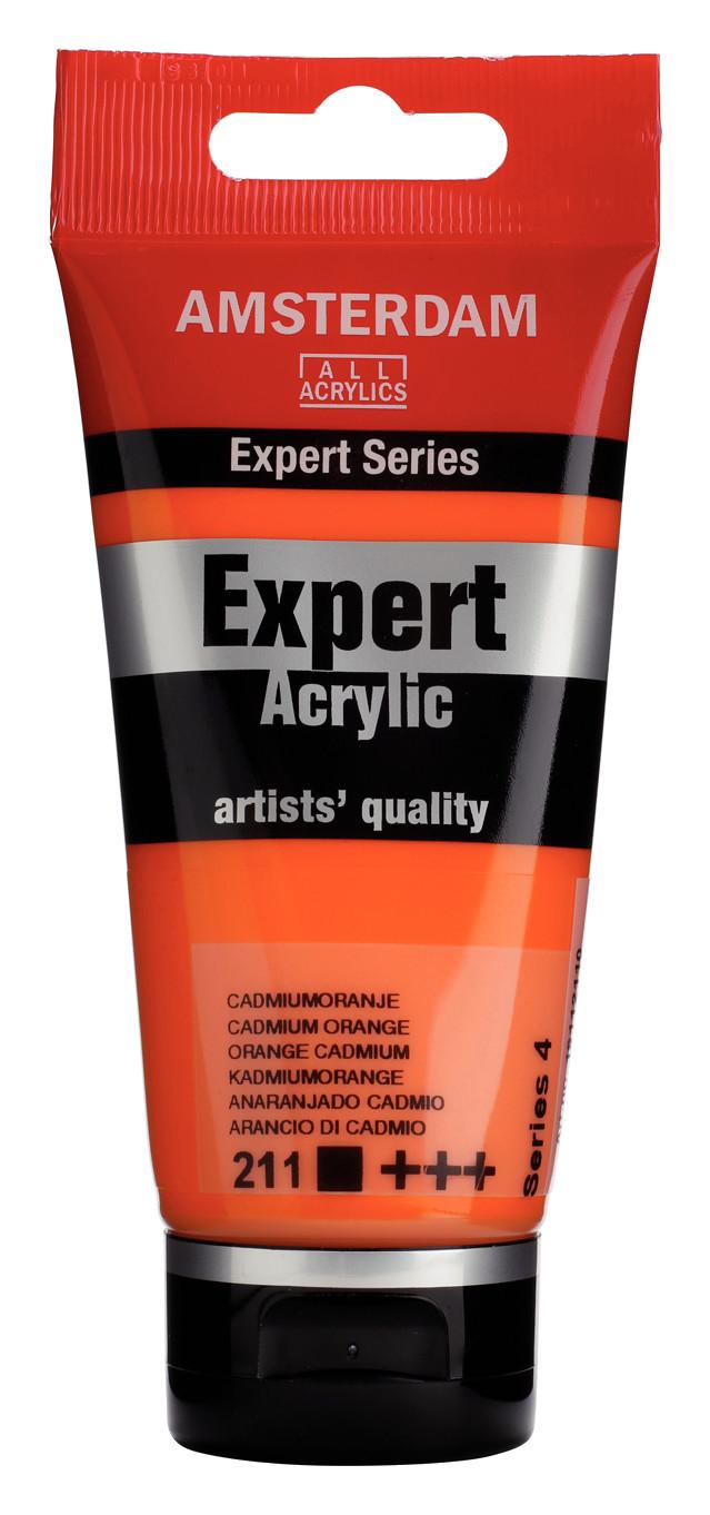 Amsterdam Expert Series Acrylic Tube 75 ml Cadmium Orange 211
