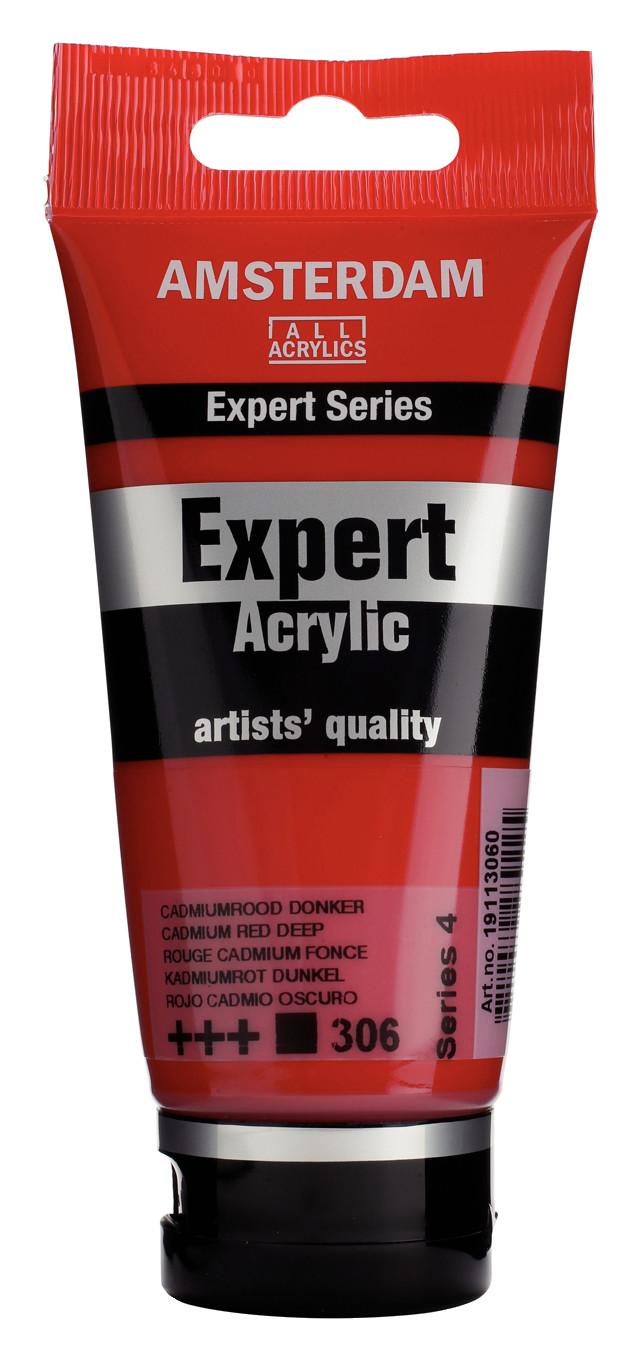 Amsterdam Expert Series Acrylic Tube 75 ml Cadmium Red Deep  306
