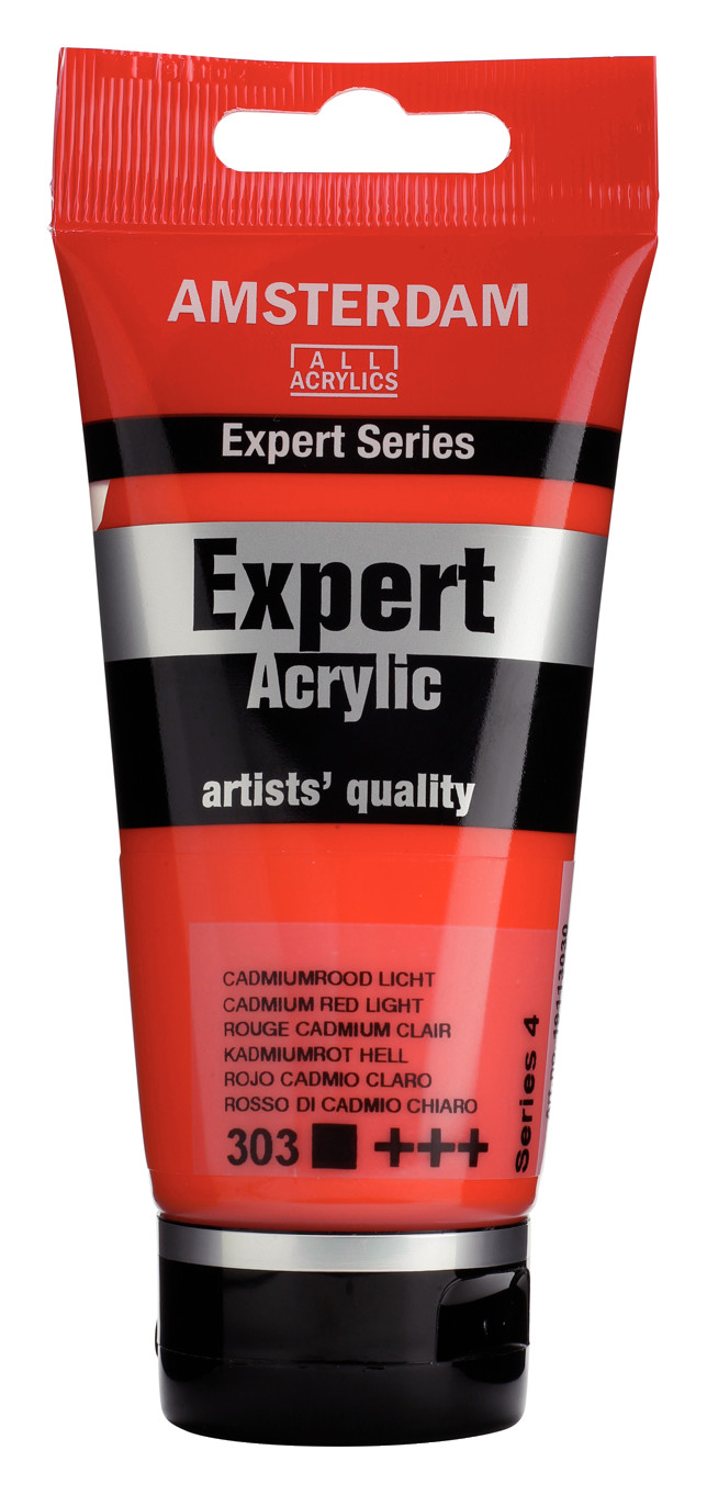 Amsterdam Expert Series Acrylic Tube 75 ml Cadmium Red Light 303