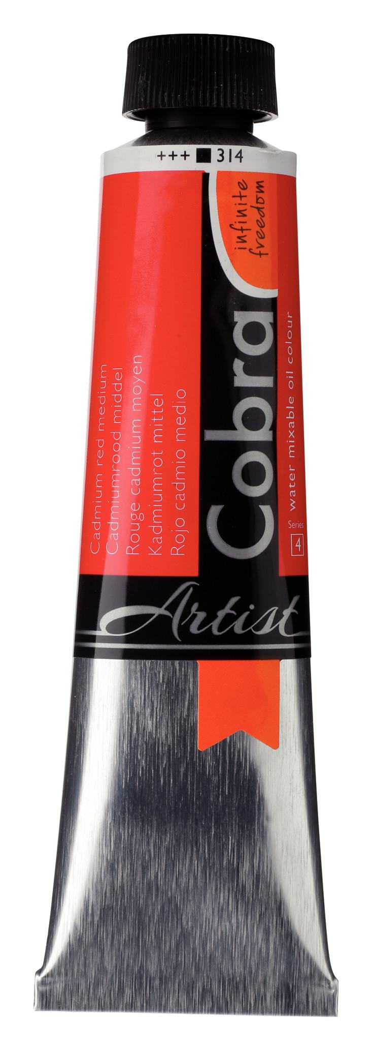 Cobra Artist Water Mixable Oil Colour Tube 40 ml Cadmium red medium 314