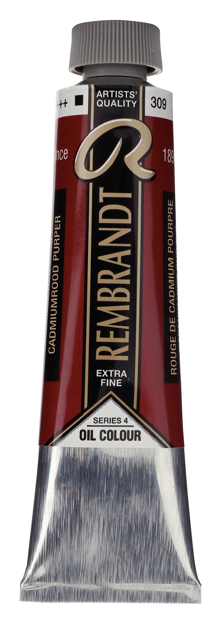 Rembrandt Oil colour Paint Cadmium Red Purple (309) 40ml Tube