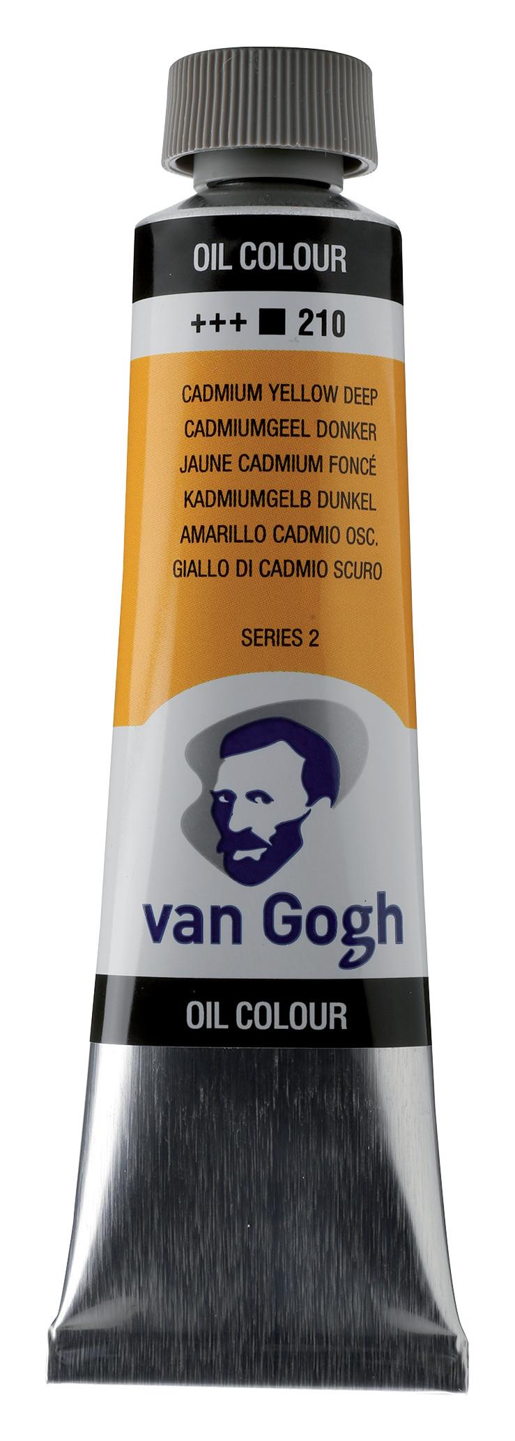 Van Gogh Oil Colour Tube 40 ml Cadmium Yellow Deep 210