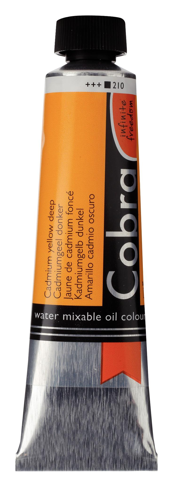 Cobra Artist Water Mixable Oil Colour Tube 40 ml Cadmium yellow deep 210