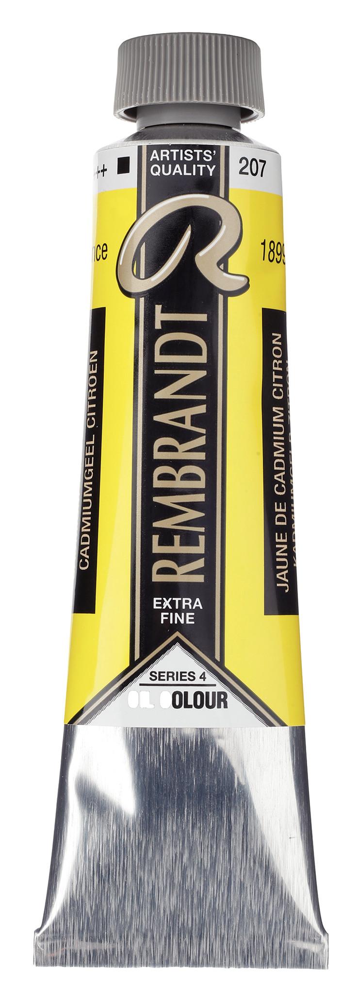 Rembrandt Oil colour Paint Cadmium Yellow Lemon (207) 40ml Tube