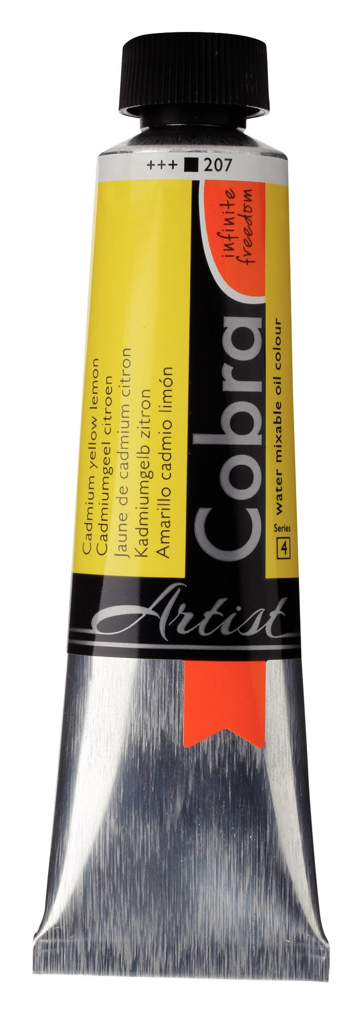 Cobra Artist Water Mixable Oil Colour Tube 40 ml Cadmium yellow lemon 207
