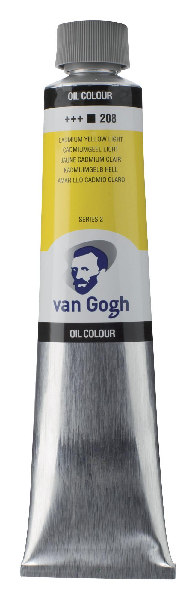 Van Gogh Oil Colour Tube 200 ml Cadmium Yellow Light 208