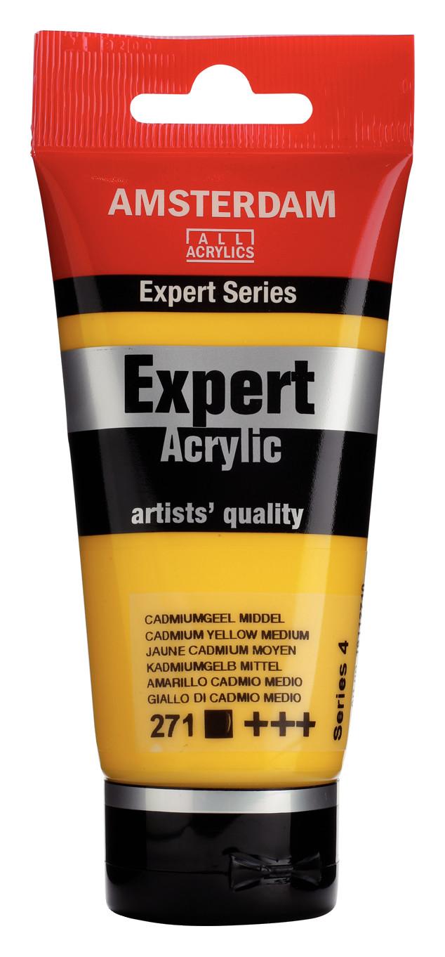 Amsterdam Expert Series Acrylic Tube 75 ml Cadmium Yellow Medium 271