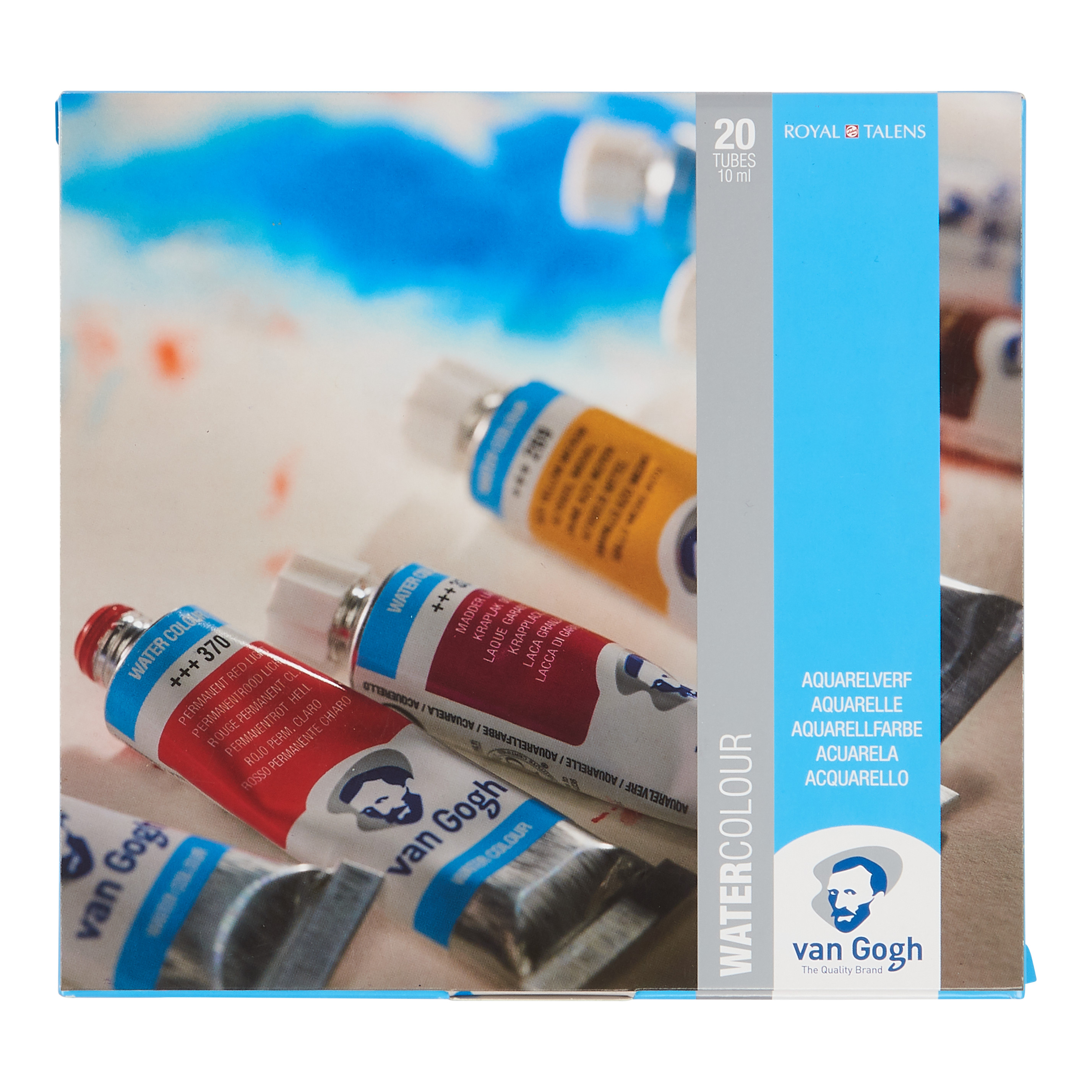 Van Gogh Water Colour Set with 20 Colours in 10ml Tube