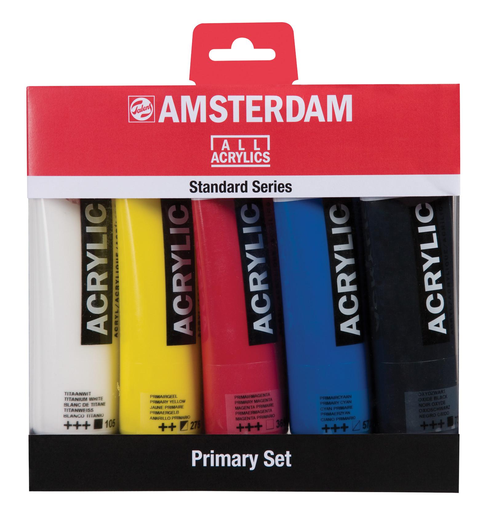 Amsterdam Standard Series Acrylics Primary Set - 5 x 120 ml