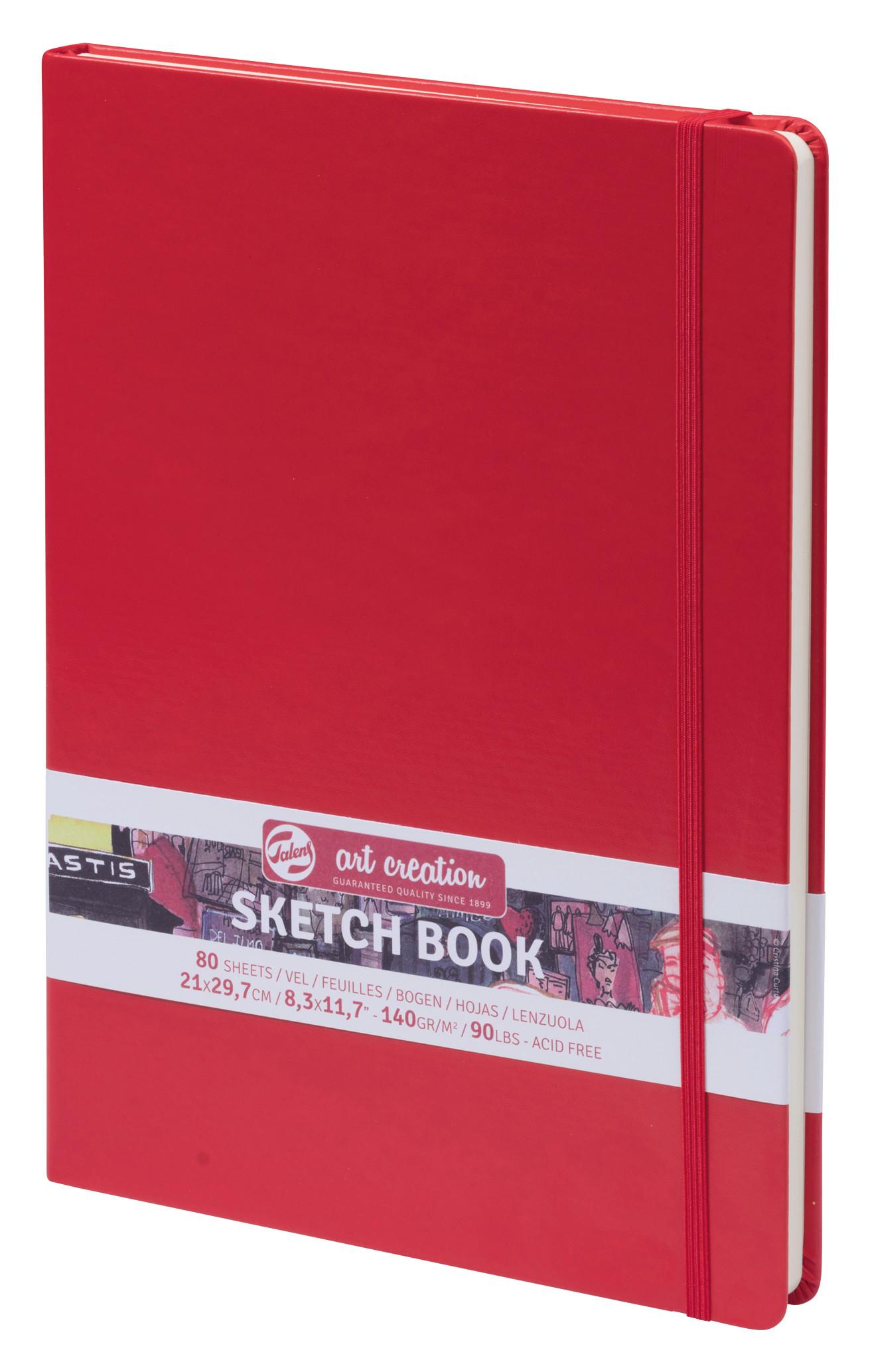 Talens Art Creation Sketchbook Red 21X29,7 cm, 140 Grams