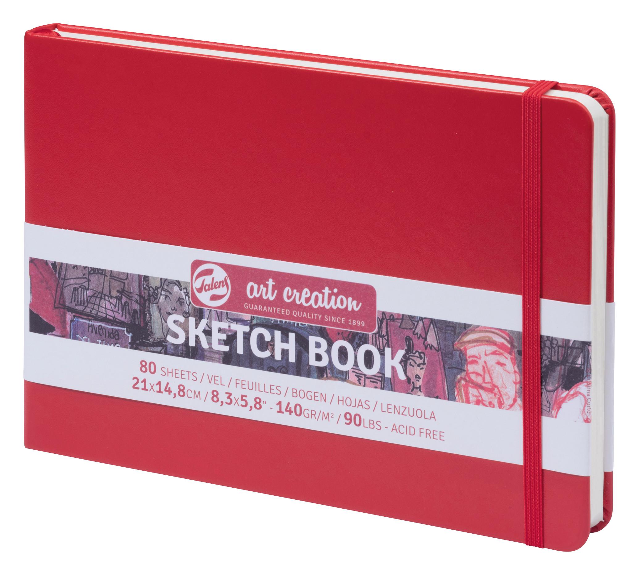 Talens Art Creation Sketchbook Red 14,8X21 cm, 140 Grams
