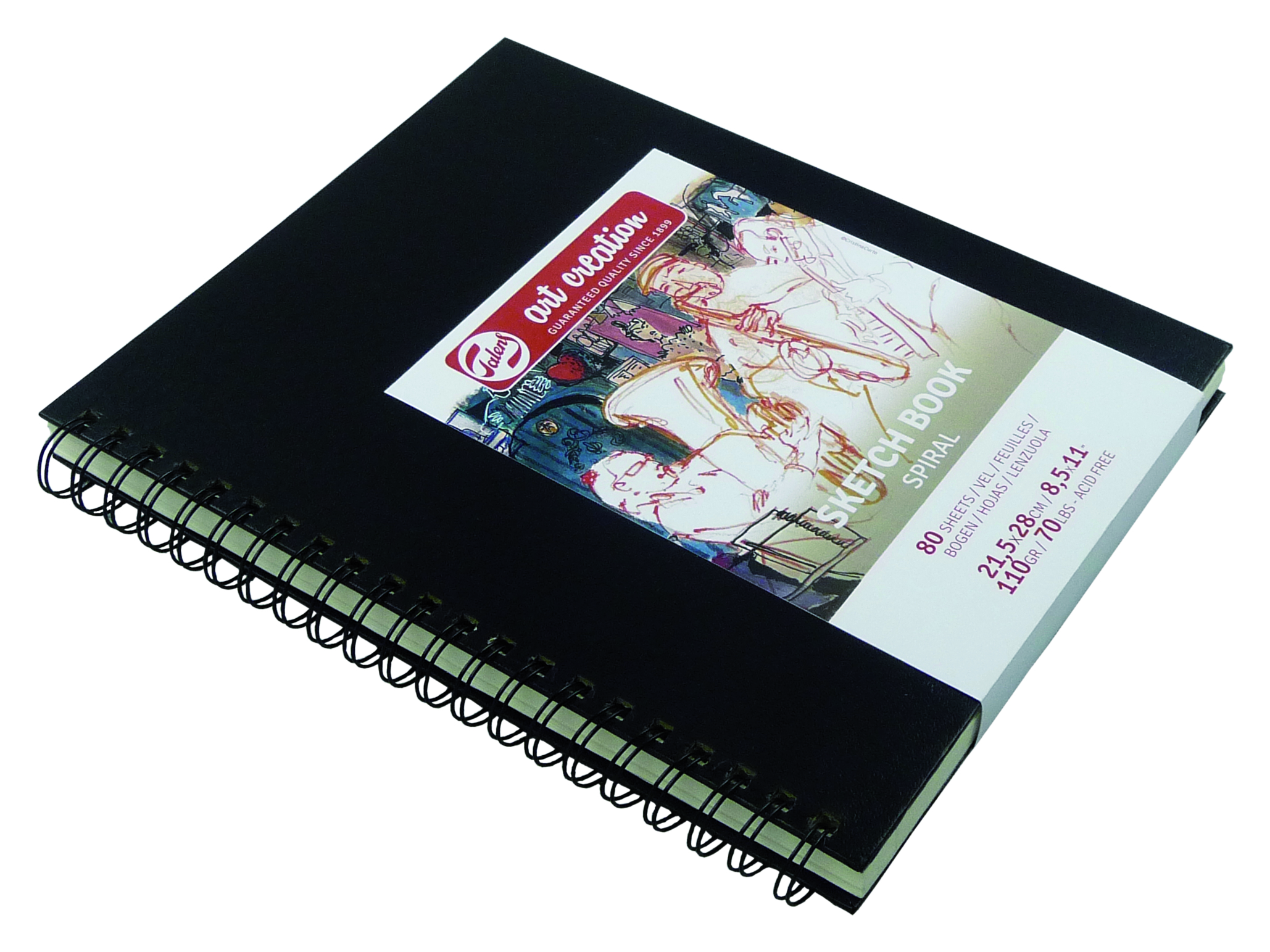 Talens Art Creation Sketchbook Spiral 21.5X28 cm, 80 Pages, 110Gr