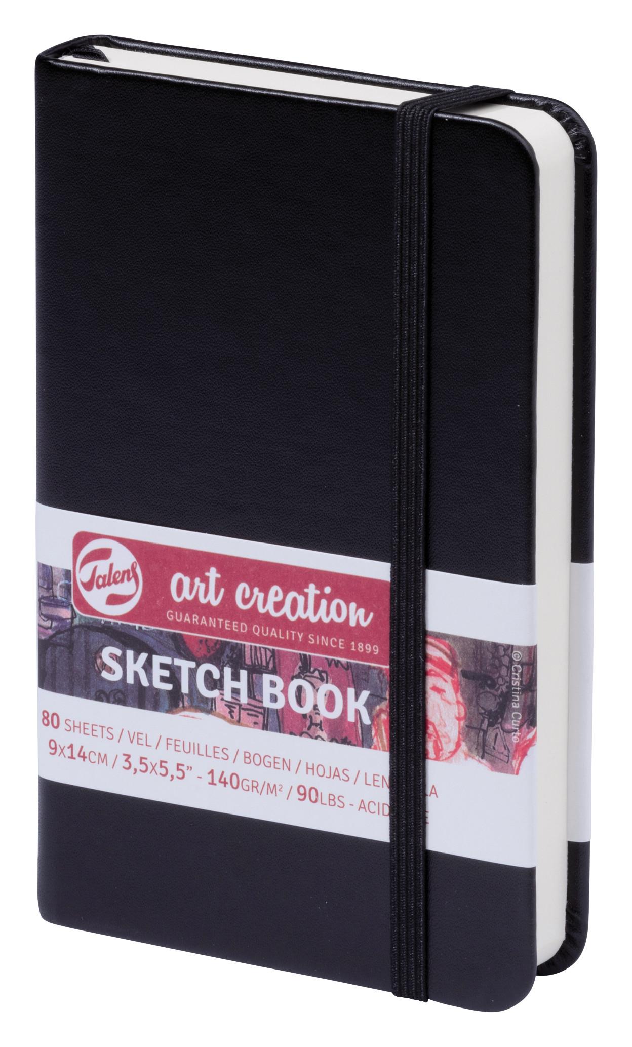 Talens Art Creation Sketchbook Black 9X14 cm, 140 Grams