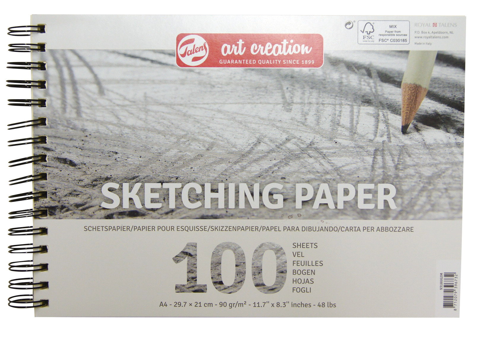 Talens Art Creation Sketch Paper A4, 90G, 100 Pages