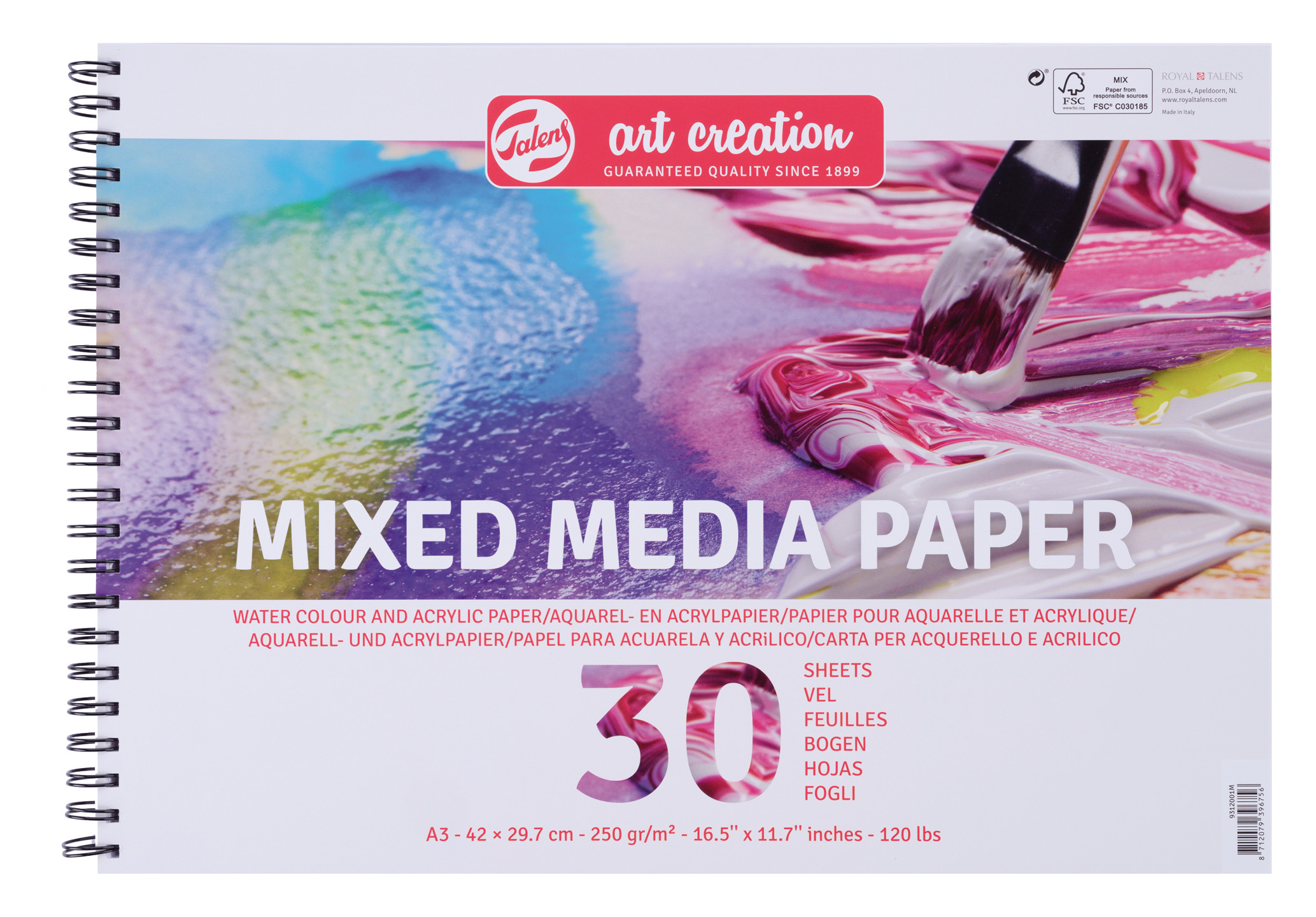 Talens Art Creation Mix Media Paper A3, 250G, 30 Pages