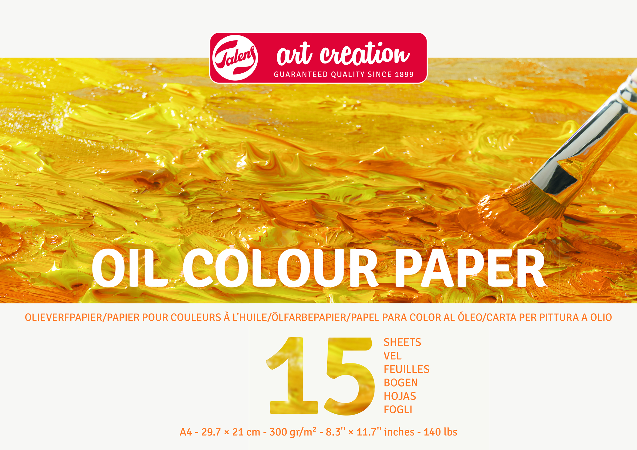 Talens Art Creation Oil Paper A4, 300G, 15 Pages