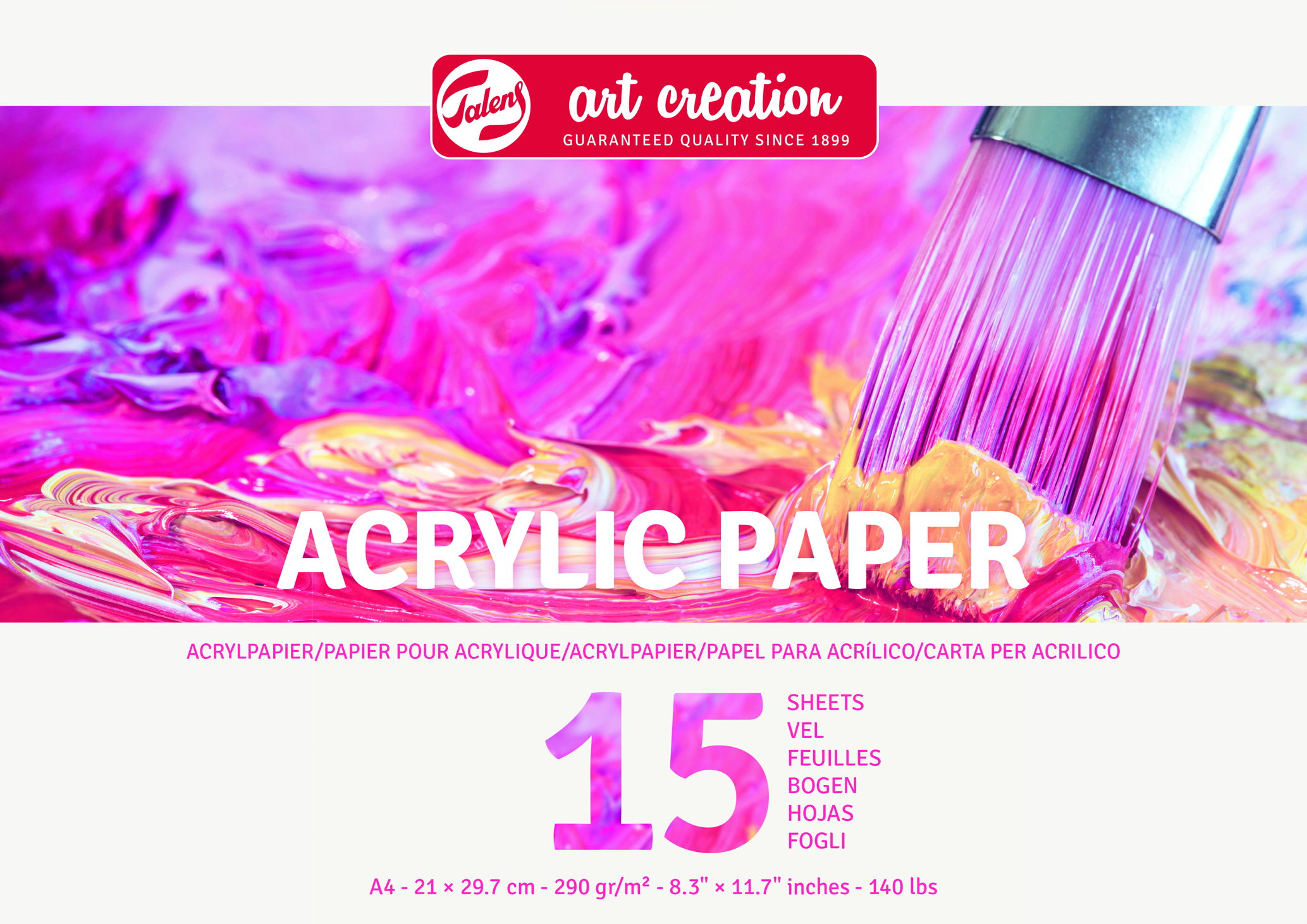 Talens Art Creation Acrylic Paper A4, 290G, 15 Pages